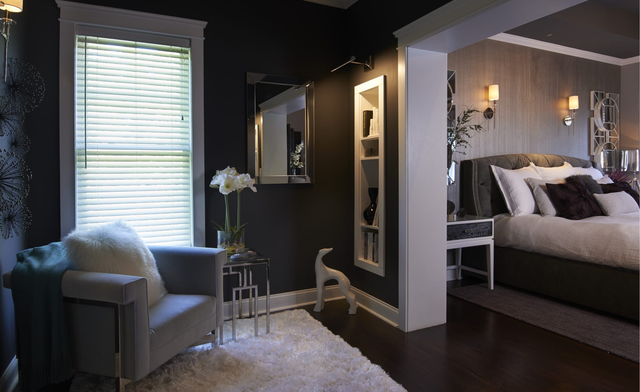 Transitional bedroom by Stratton Design Group