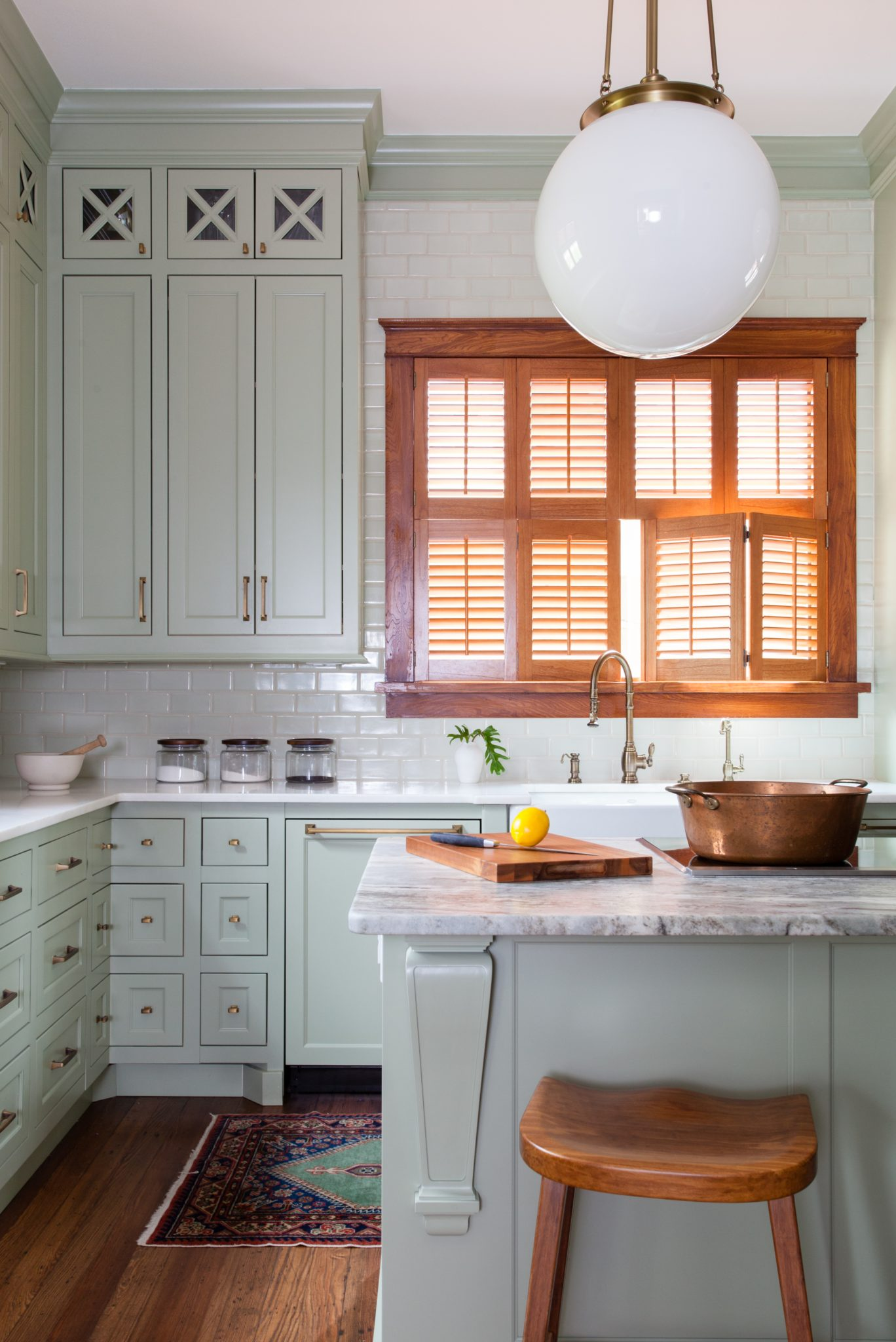 Mint green Queen Anne kitchen by Sarah Stacey Interior Design