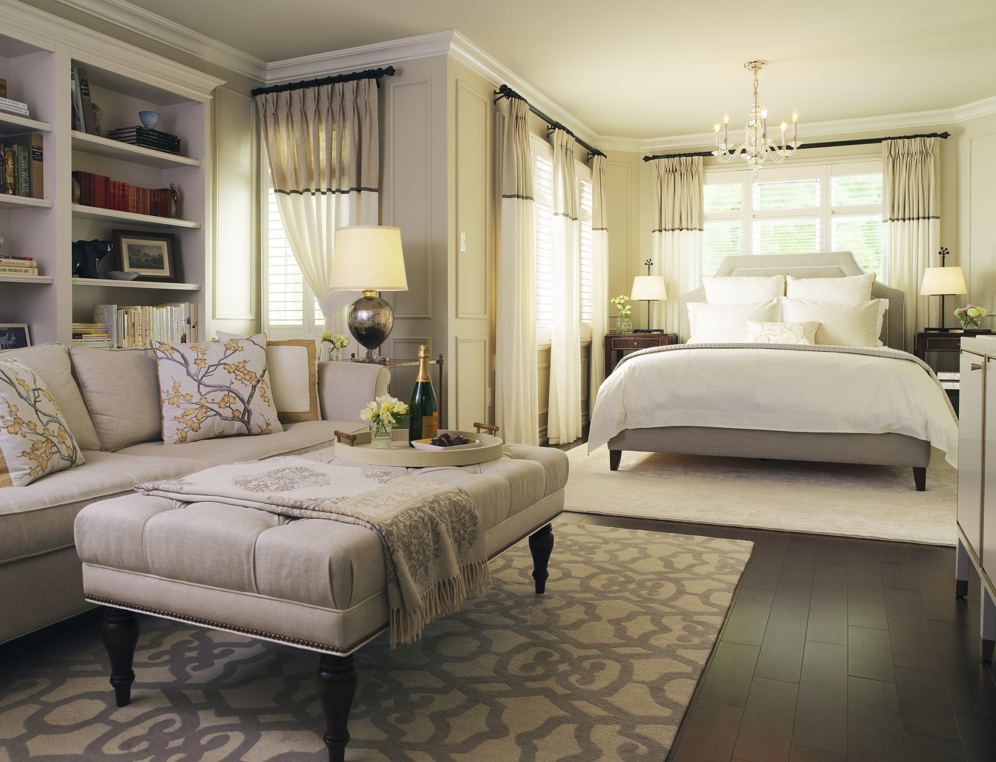Master bedroom by Laura Stein Interiors