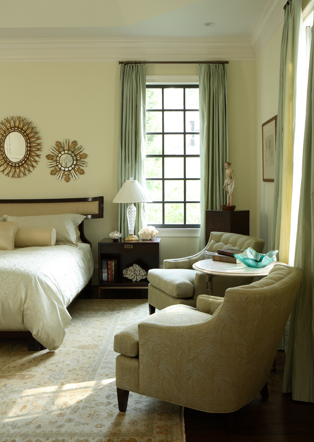 Master bedroom by McLaurin Interiors