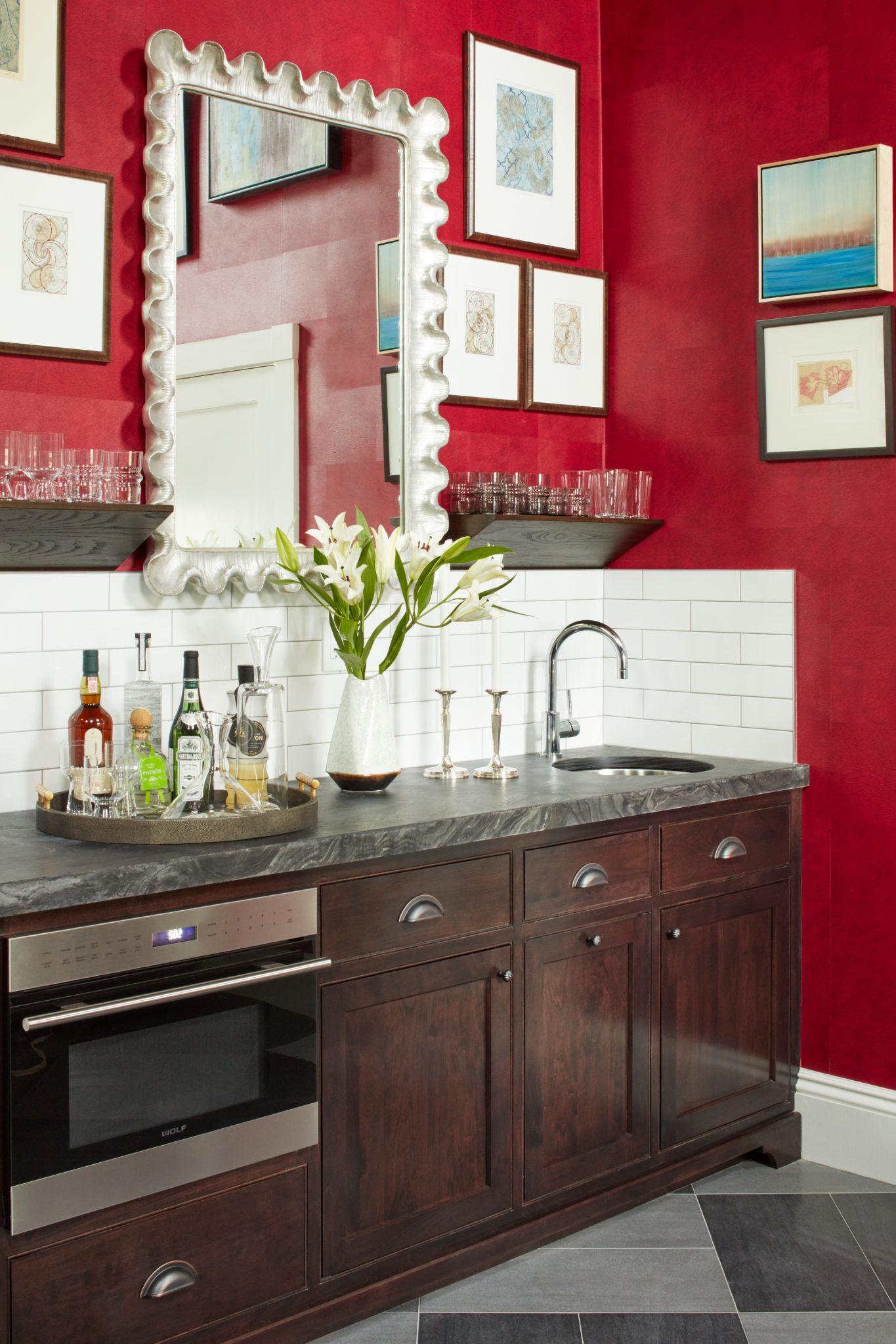 Kitchen - Cultural Alliance - Bar area by Vani Sayeed Studios