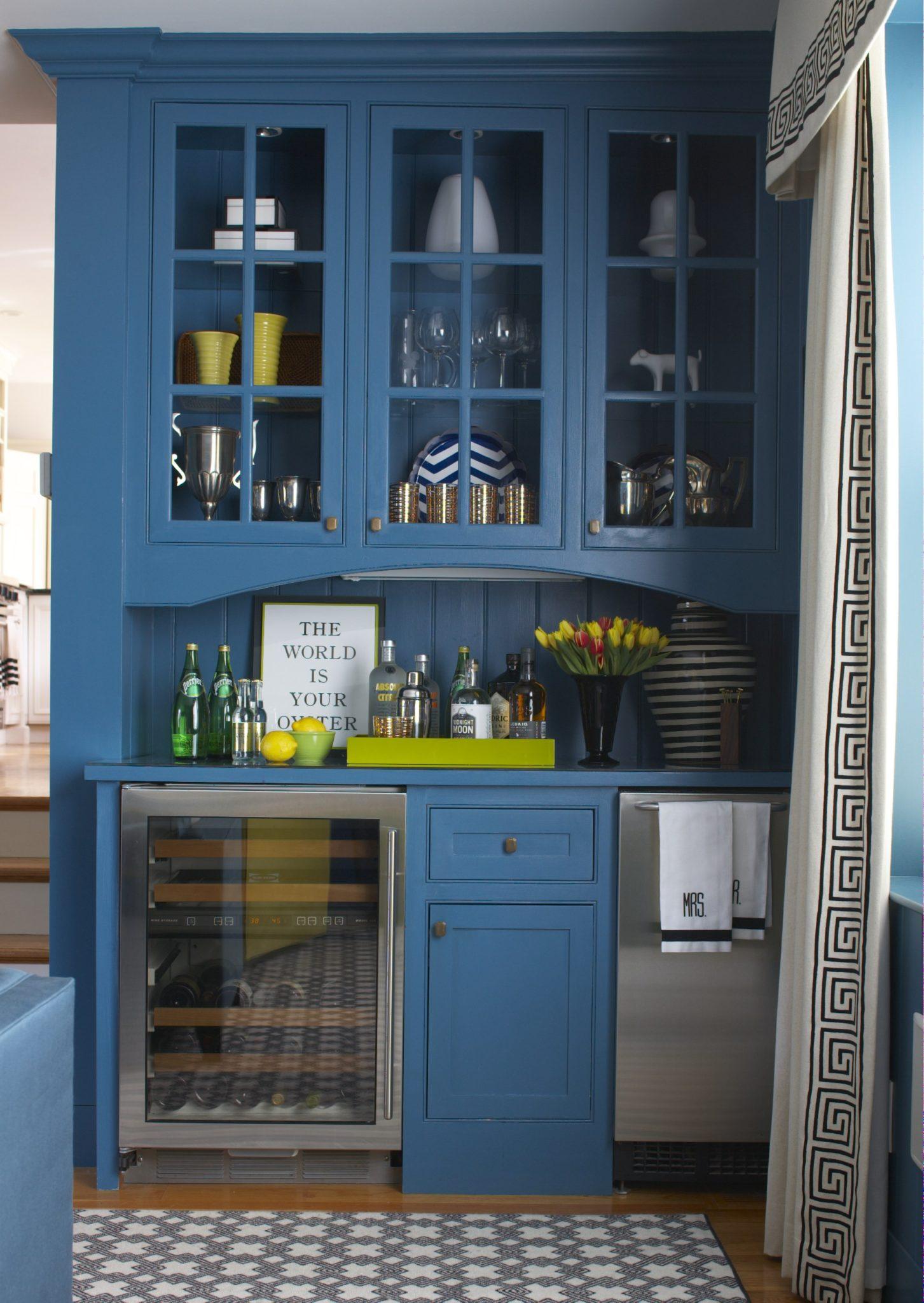 Living Room Bar Area by Liz Caan & Co.
