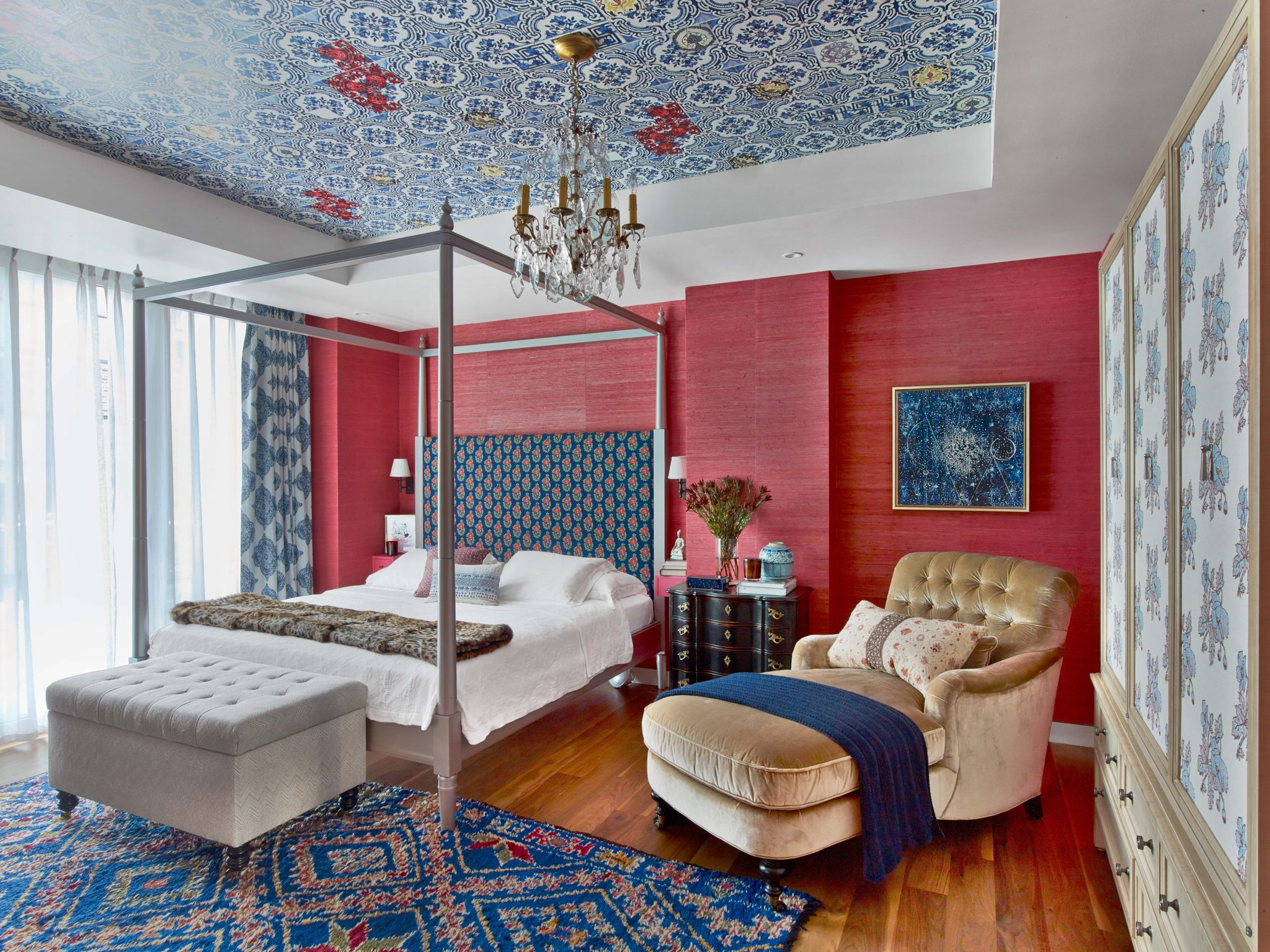 New York City penthouse bedroom by Kati Curtis Design