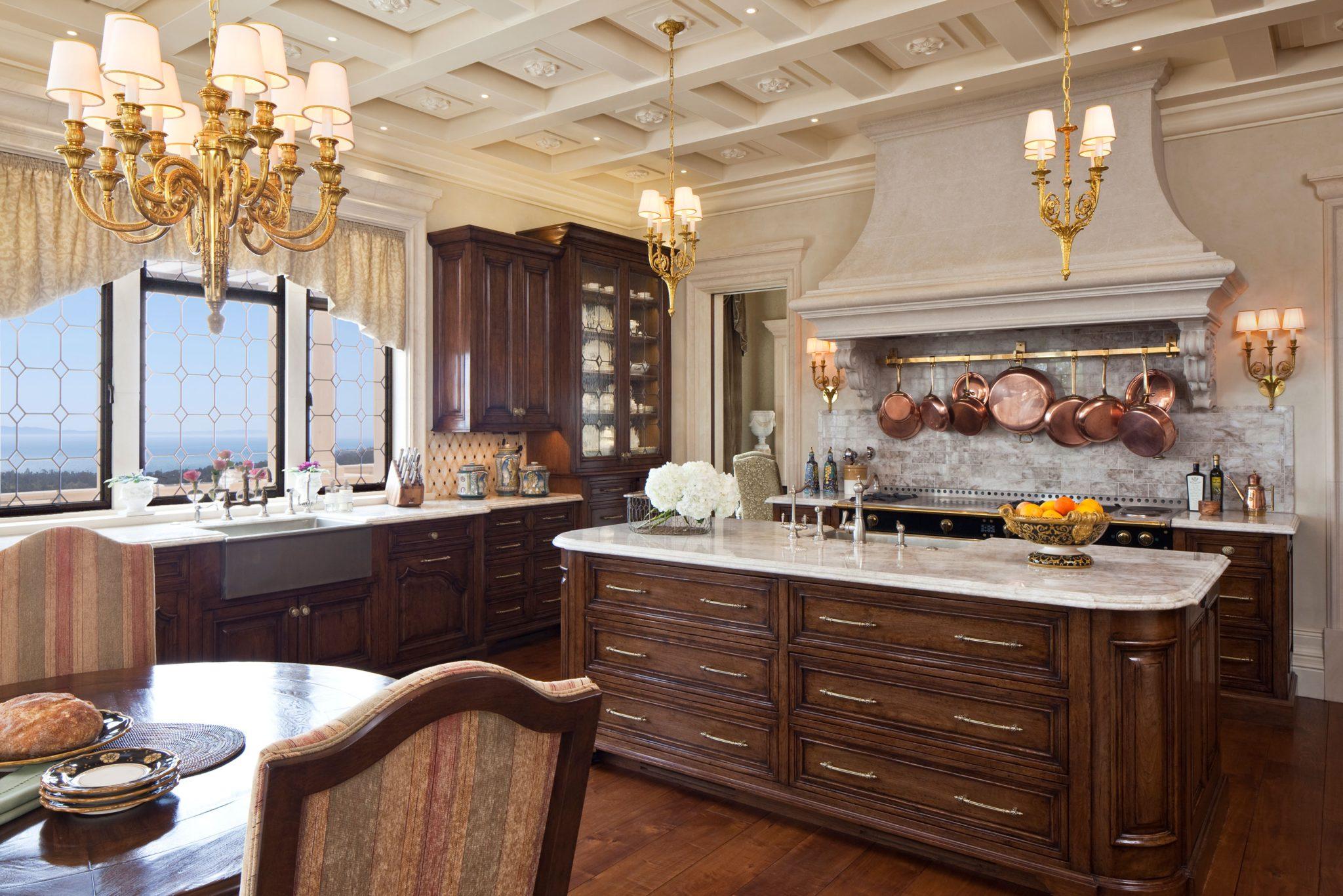 Kitchen in a Montecito, California, private residence. By SFA Design