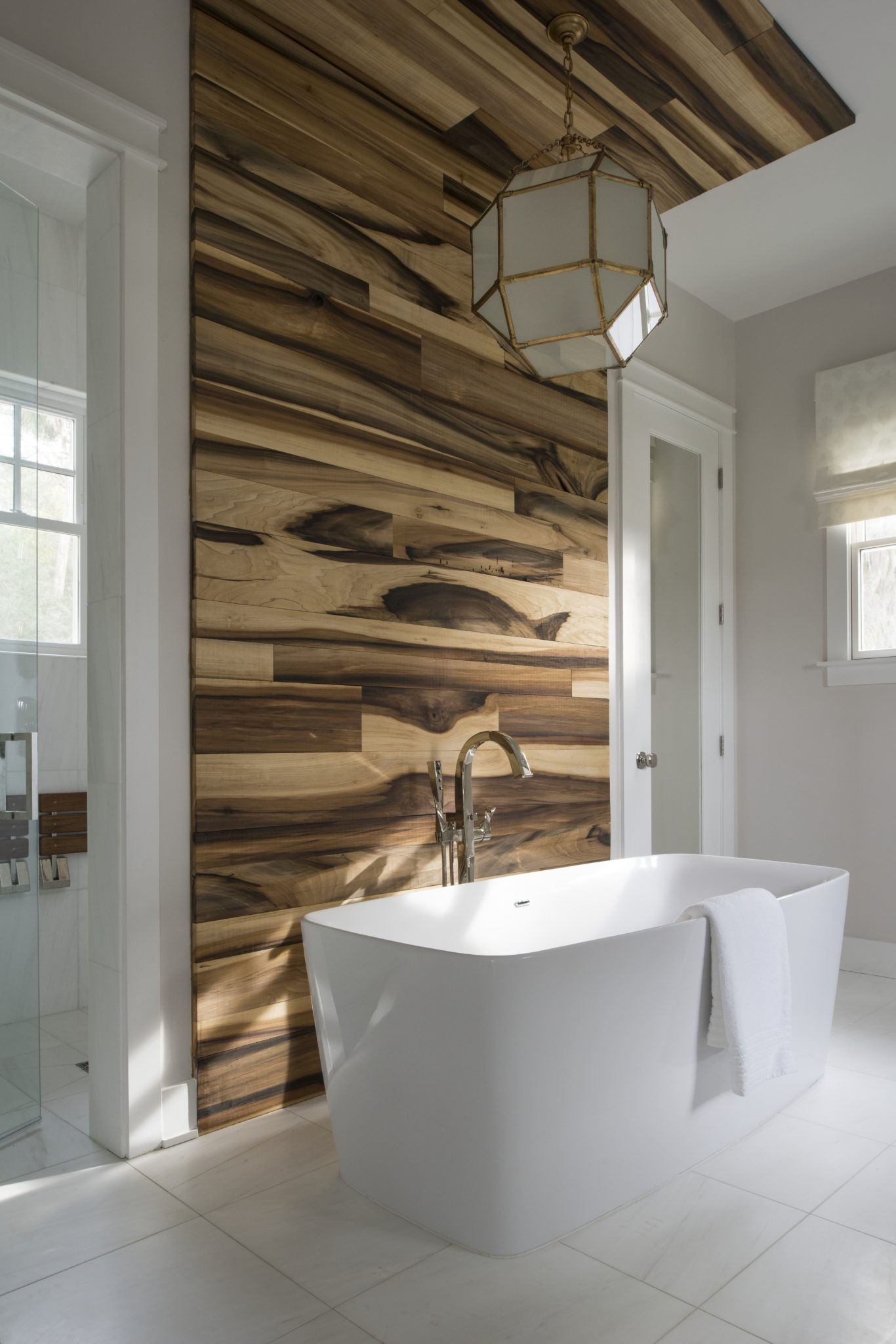 Sophisticated river home master bath by John McClain Design