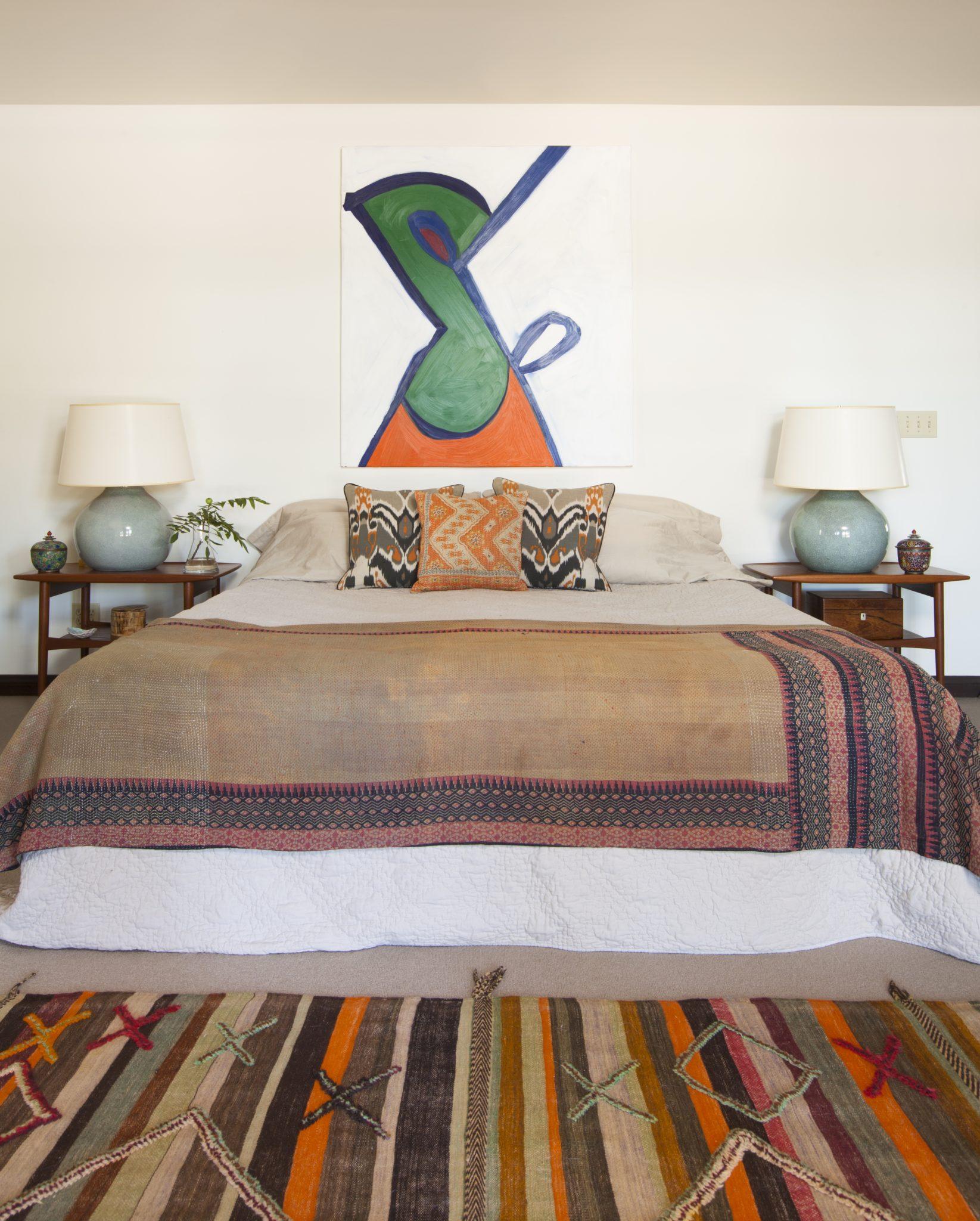Ethnic textiles bedroom by Sarah Walker Design Associates