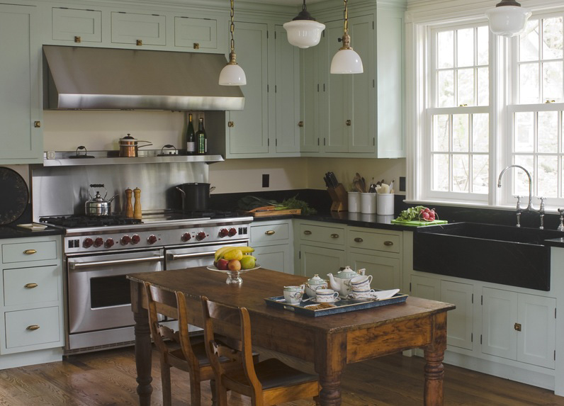 Farmhouse kitchen by Young Huh Interiors