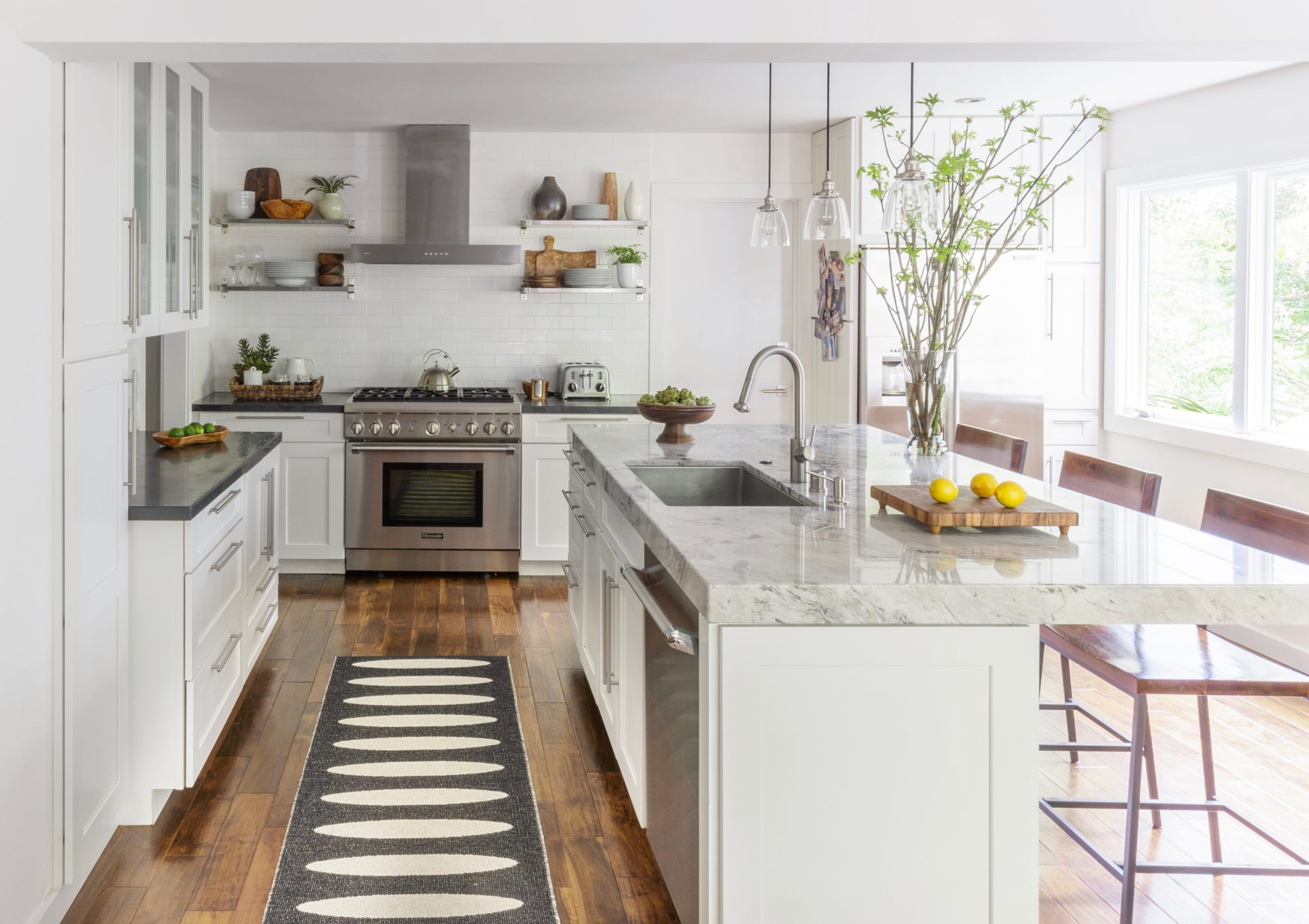 Mill Valley in the trees: kitchen by Suzanne Childress Design