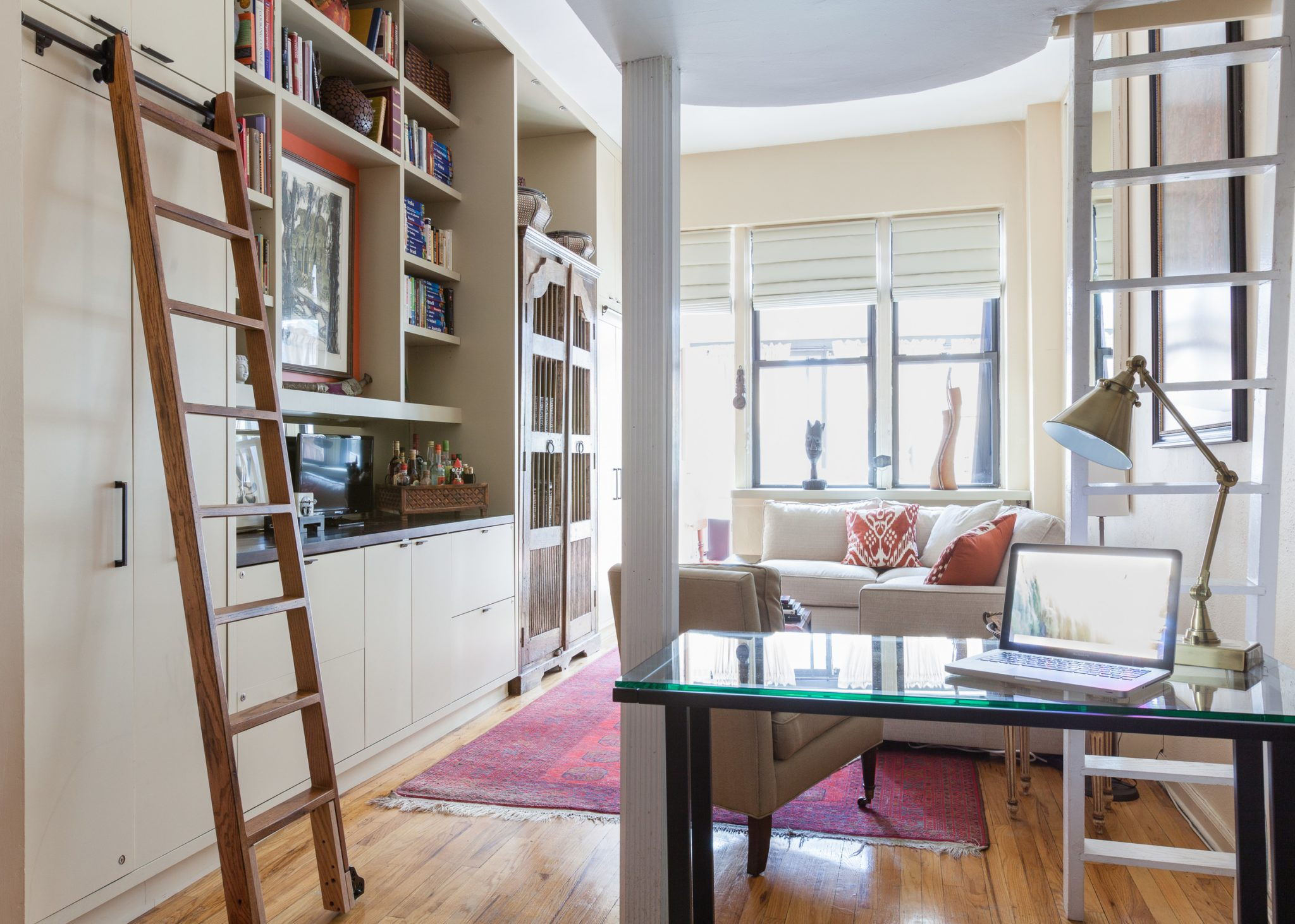 Bookcases and storage to un-clutter small spaces. by Prop Positions Inc.