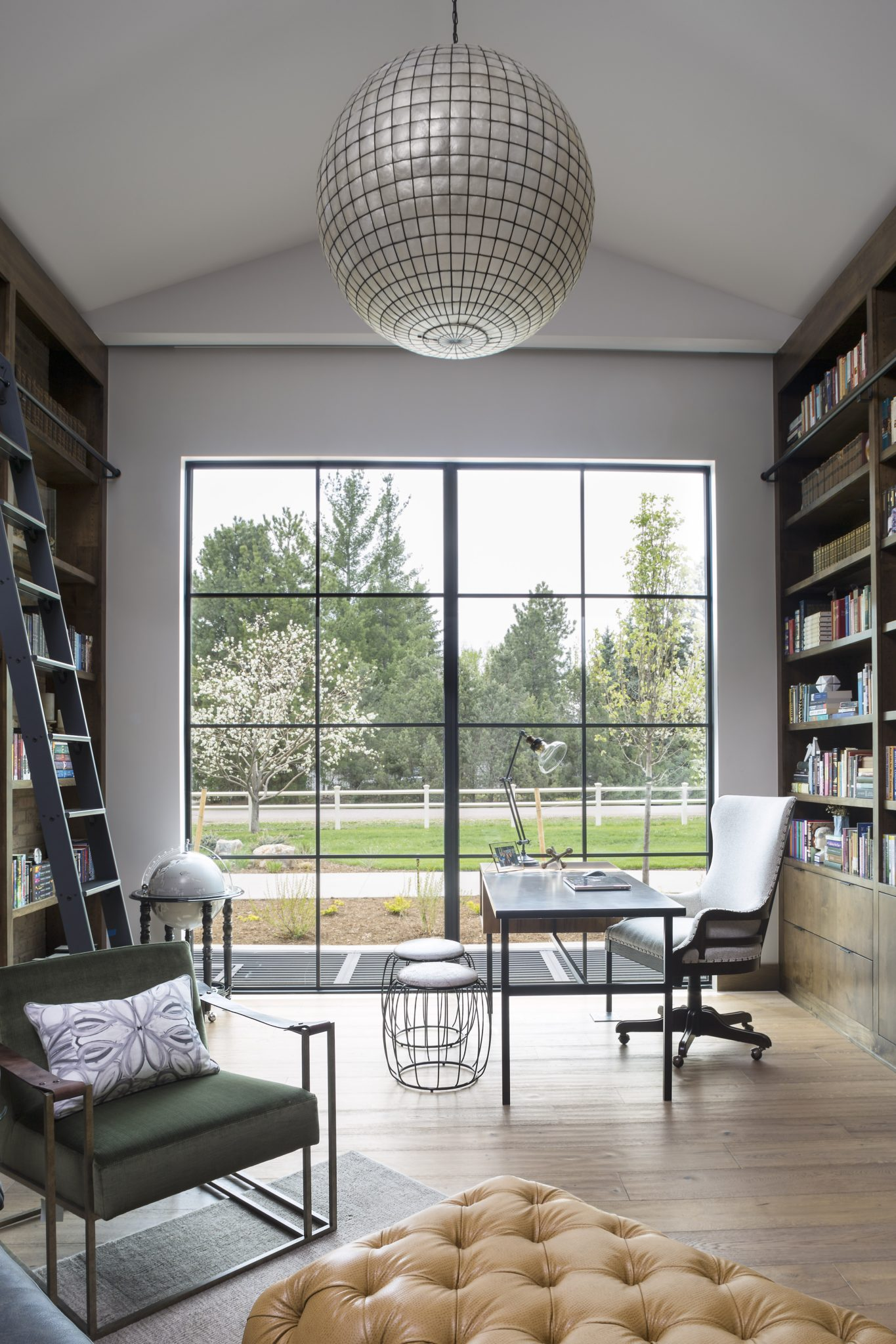 Eclectic Denver Home, Home Library by Duet Design Group