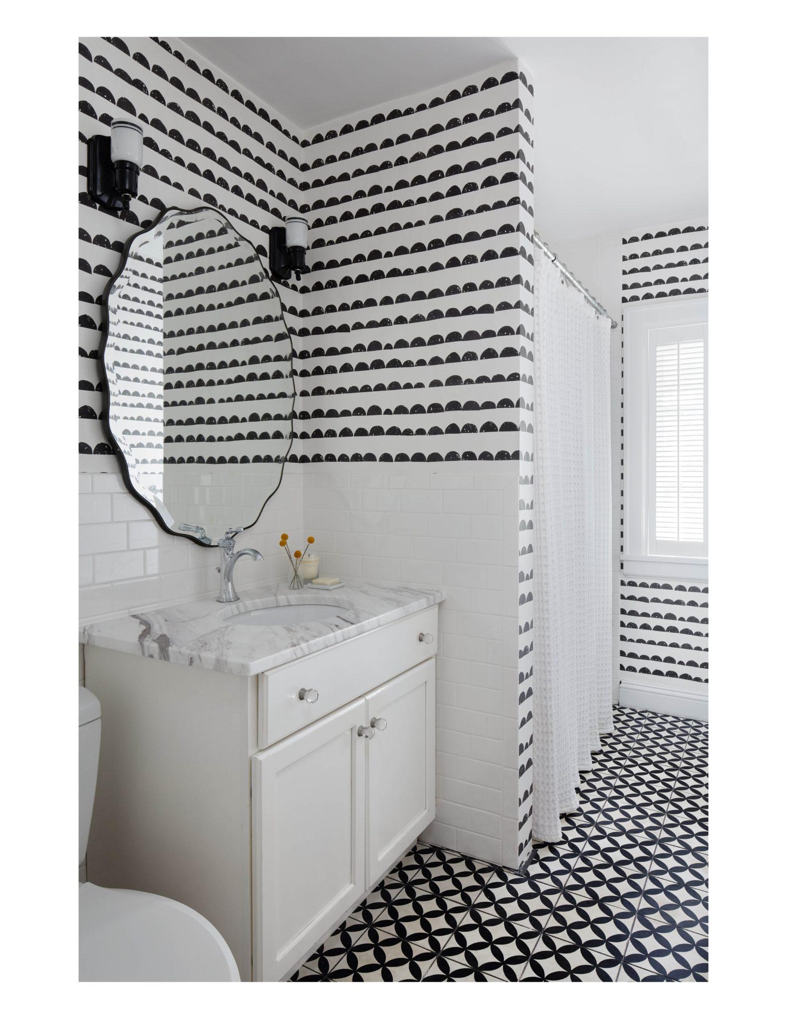 Wilmette black and white kids' bedroom by Jen Talbot Design