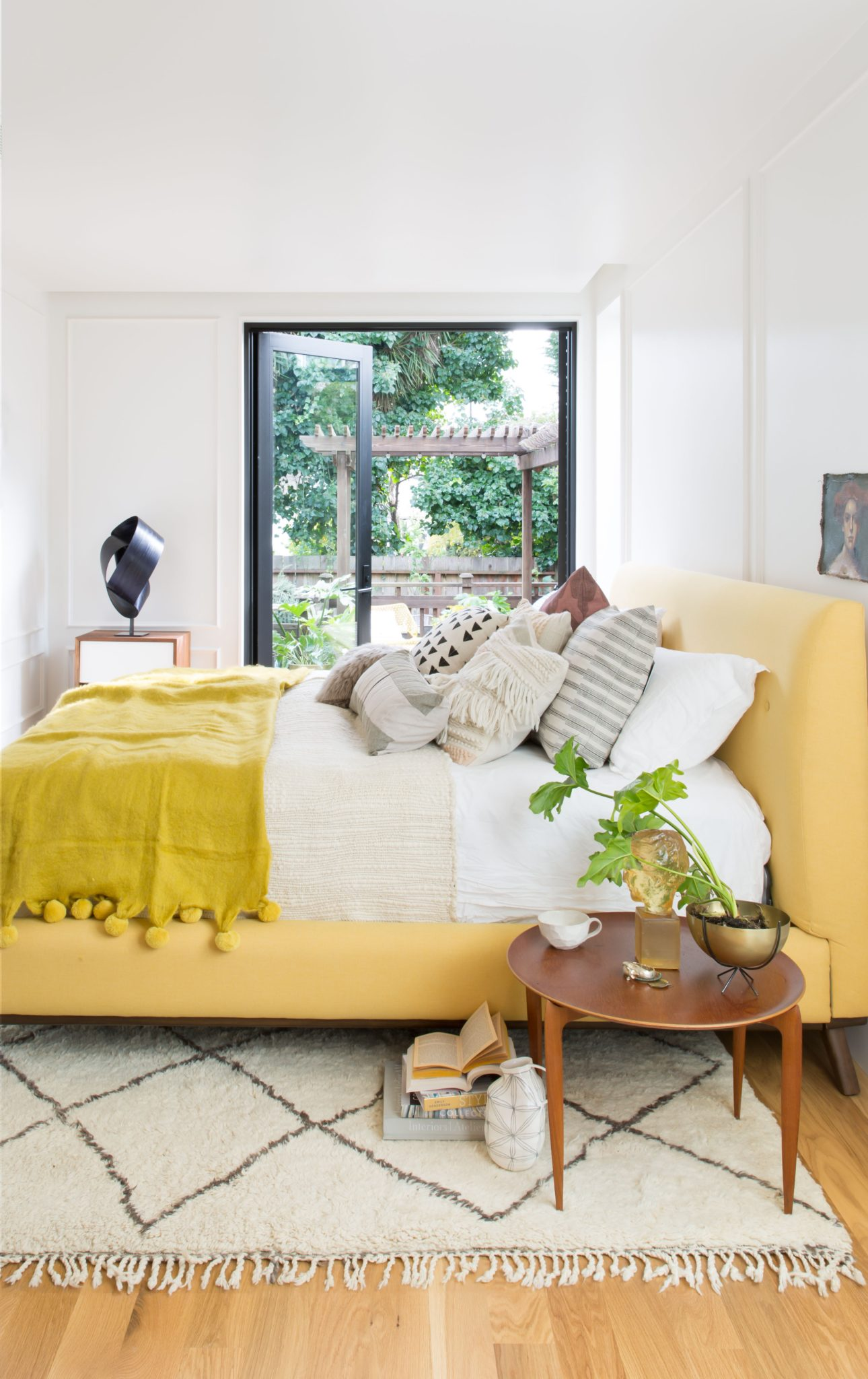 Noe Valley Parisian Atelier - Master Bedroom by Regan Baker Design
