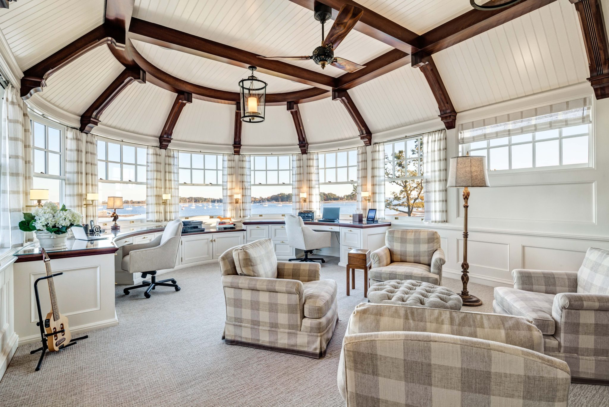 New England Shingle Style Residence Home Office by Charles Hilton Architects