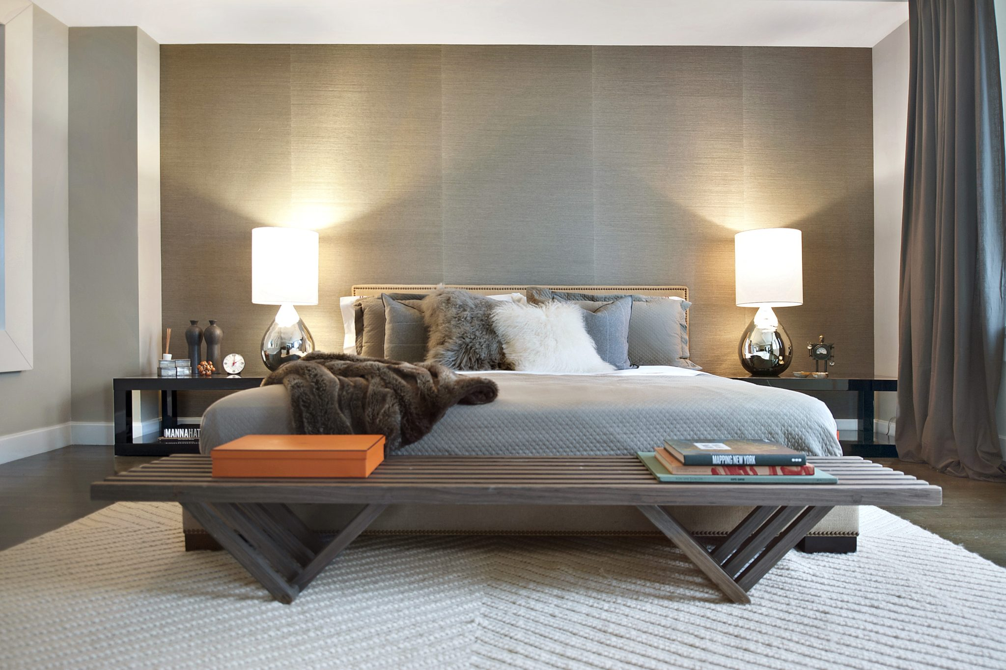 Master bedroom in a Central Park residenceby Lo Chen Design