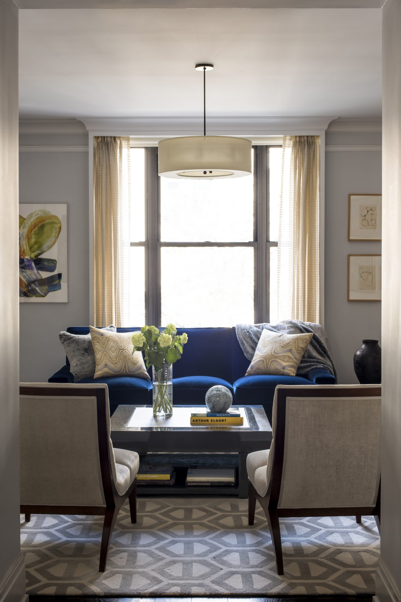 Living Room in Upper Fifth Avenue Home by Elizabeth Bolognino Interiors