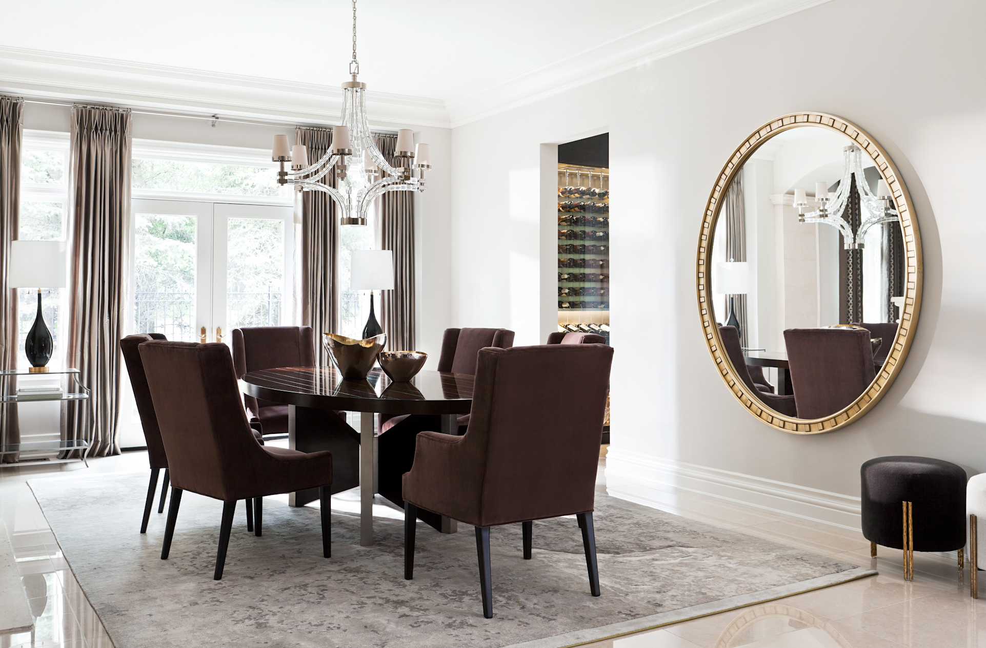 Dining Room designed by Elizabeth Metcalfe Interiors & Design Inc. by Elizabeth Metcalfe Interiors & Design Inc.