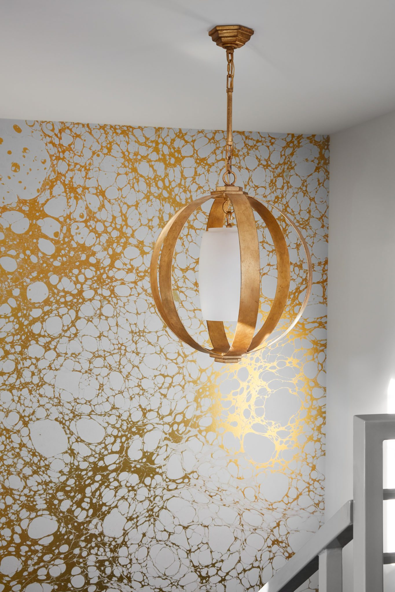 Lincoln Park Modern Greystone, Wallpaper Detail. by Centered by Design