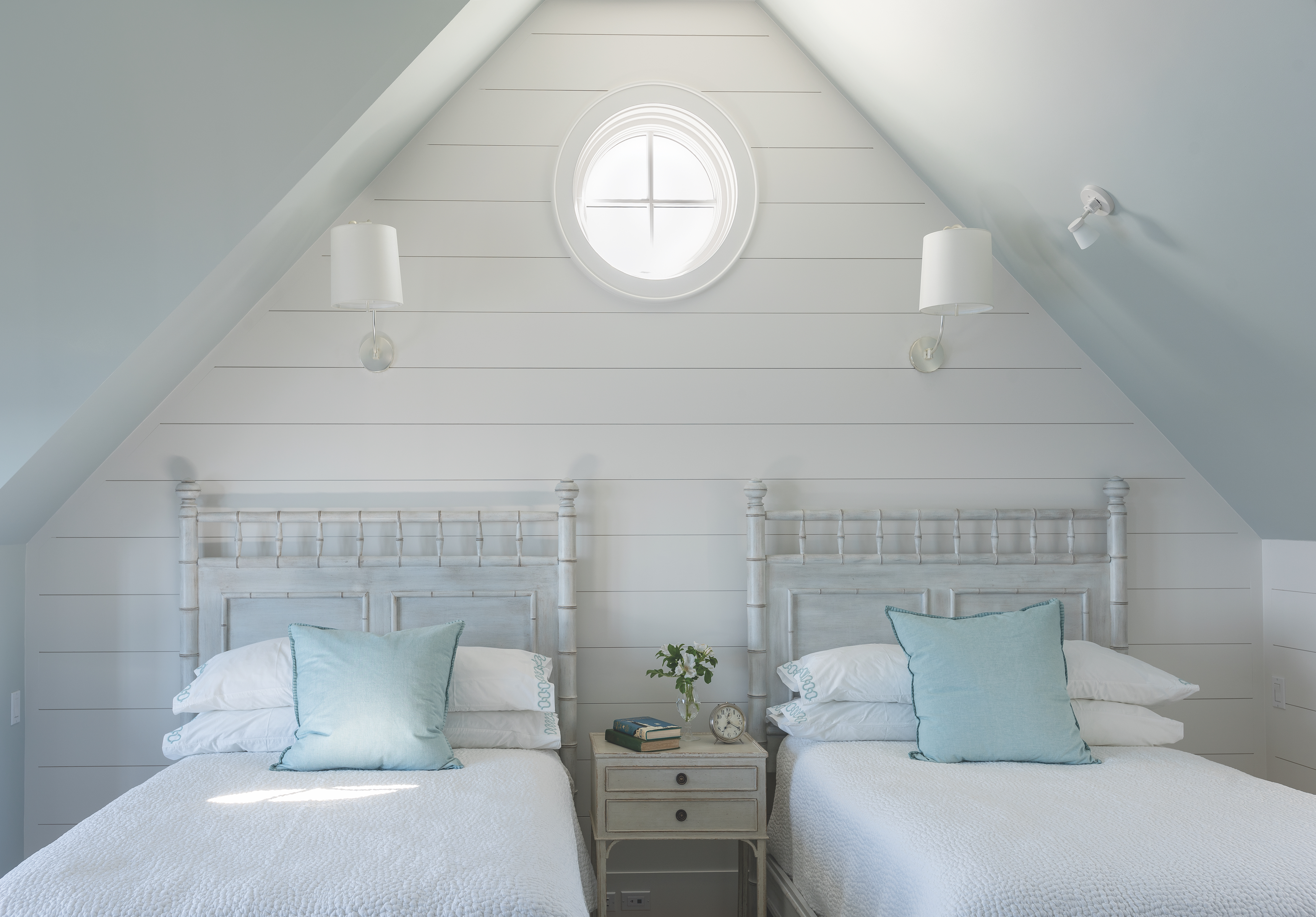 Guest Bedroom at Ship's Channel, Cape Elizabeth by Banks Design Associates Ltd.
