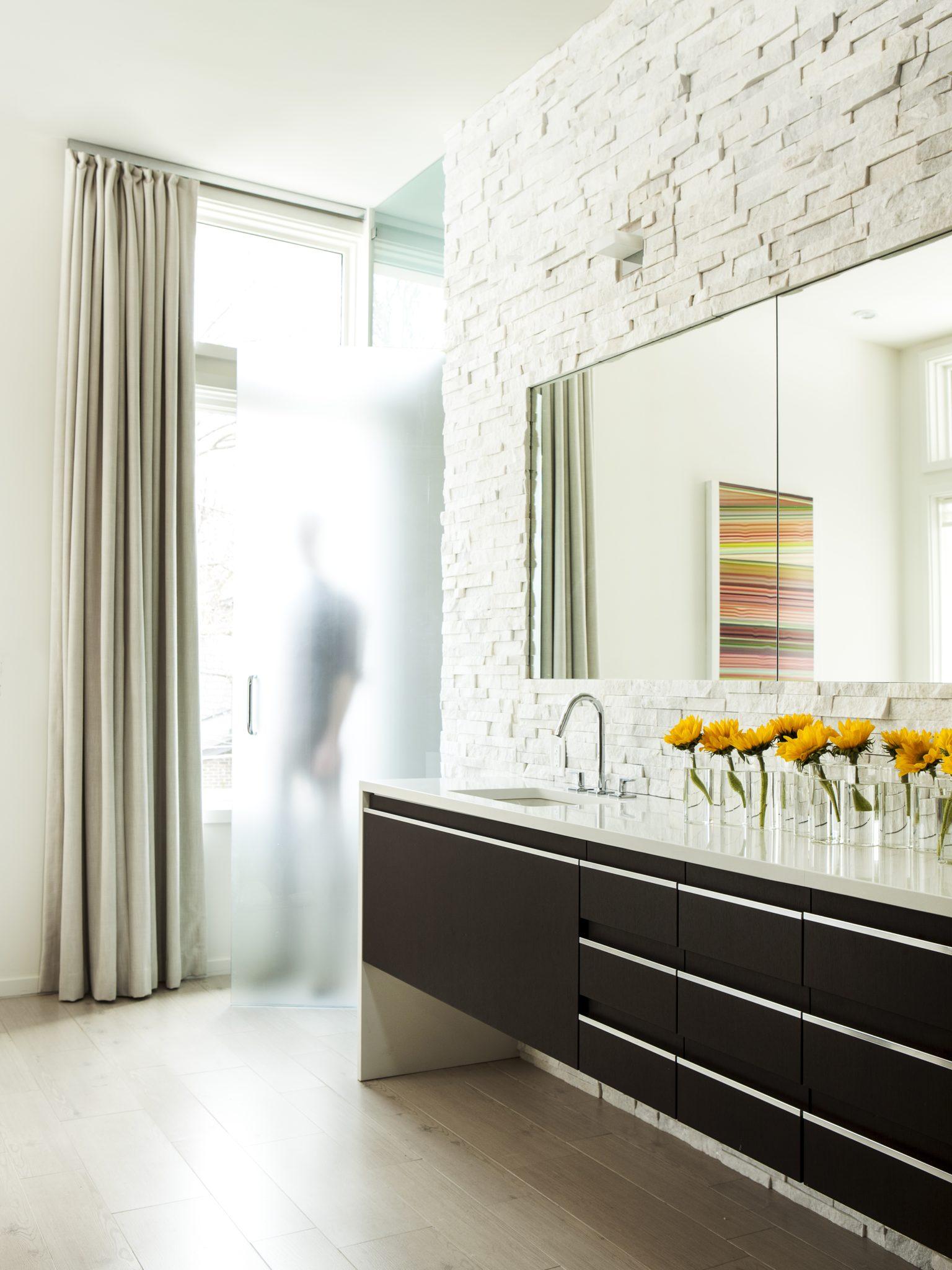 Midtown modern bath by Joel Kelly Design