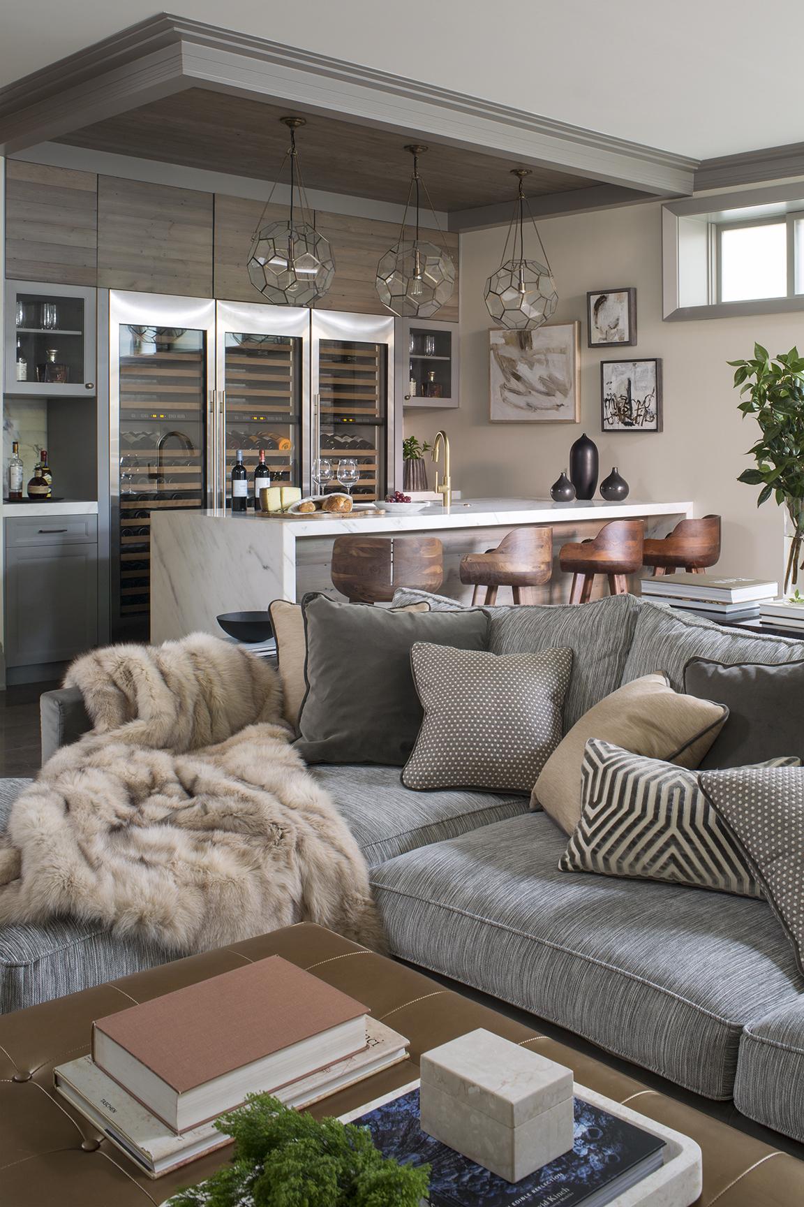 Urban elegance - basement by Wendy Labrum Interiors