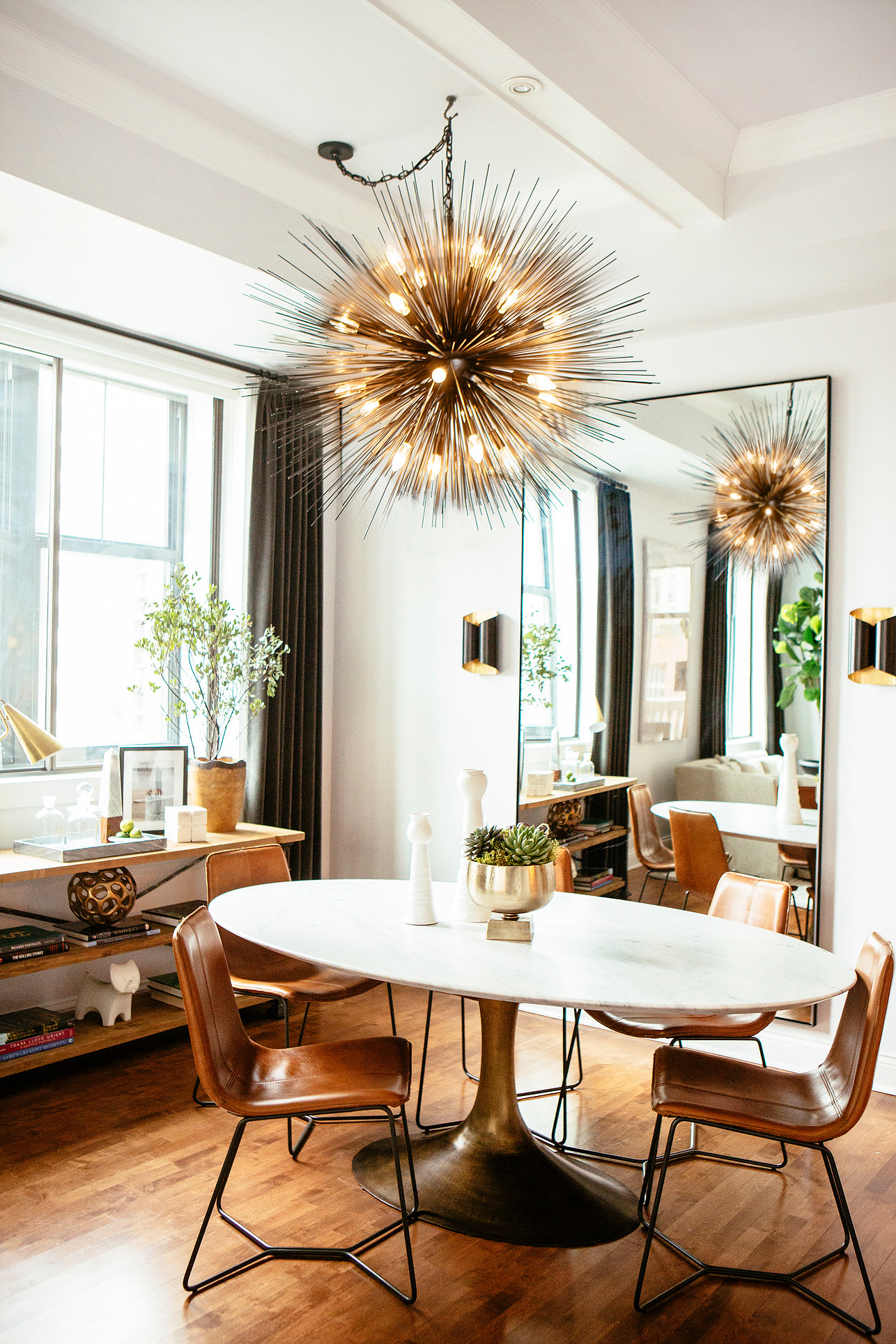 Contemporary Urban Dining Room by M and M Interior Design
