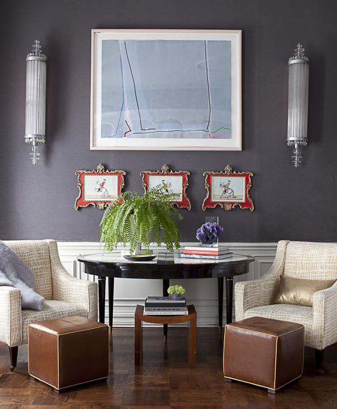 Living room vignette by Amanda Nisbet Design