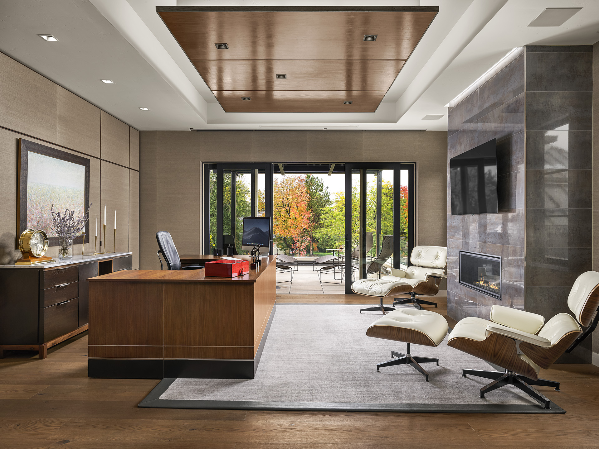 Contemporary Mountain Home, Home Office by Duet Design Group