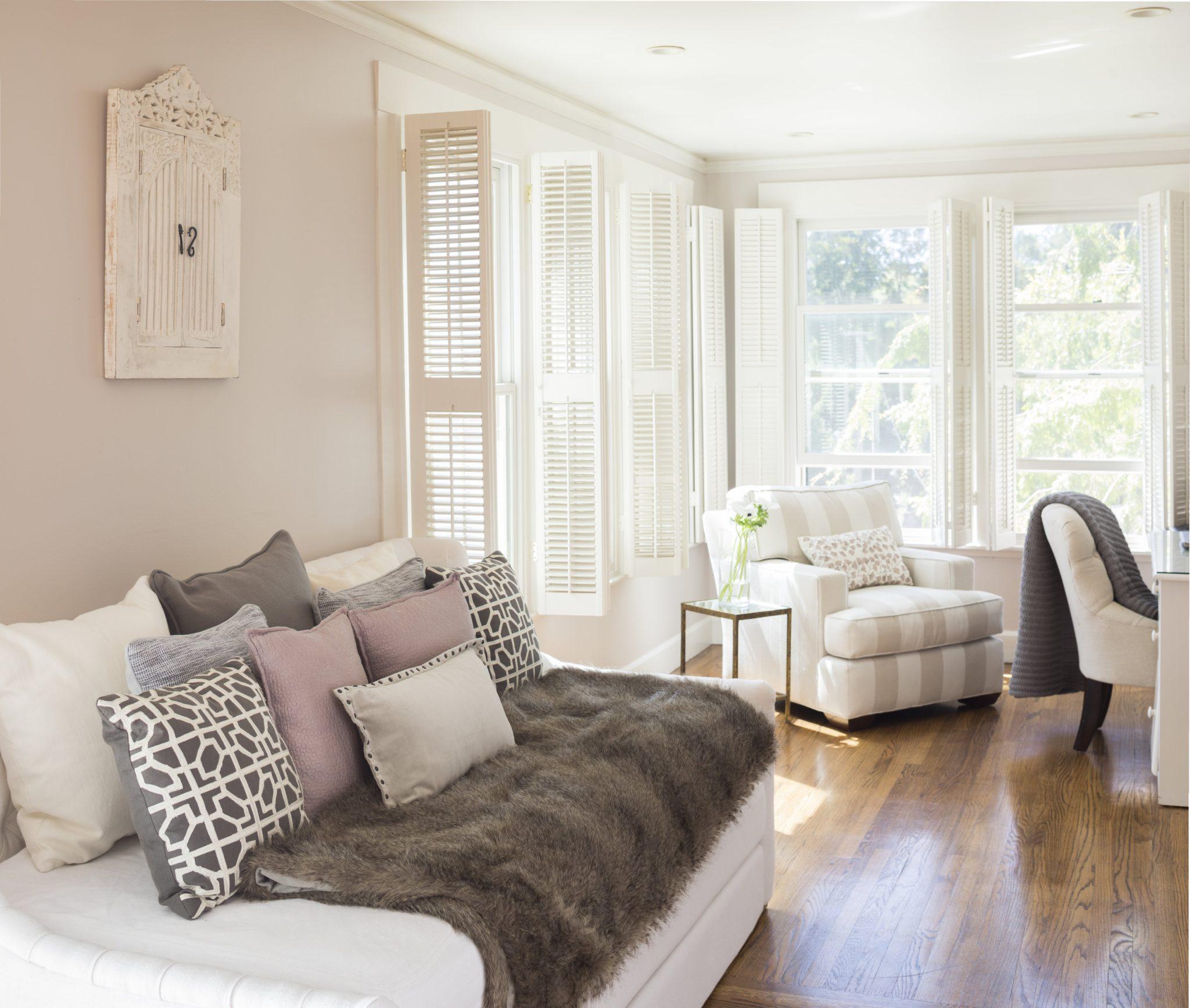 Serene Hillsborough residence - guest room/office by McBrien Interiors