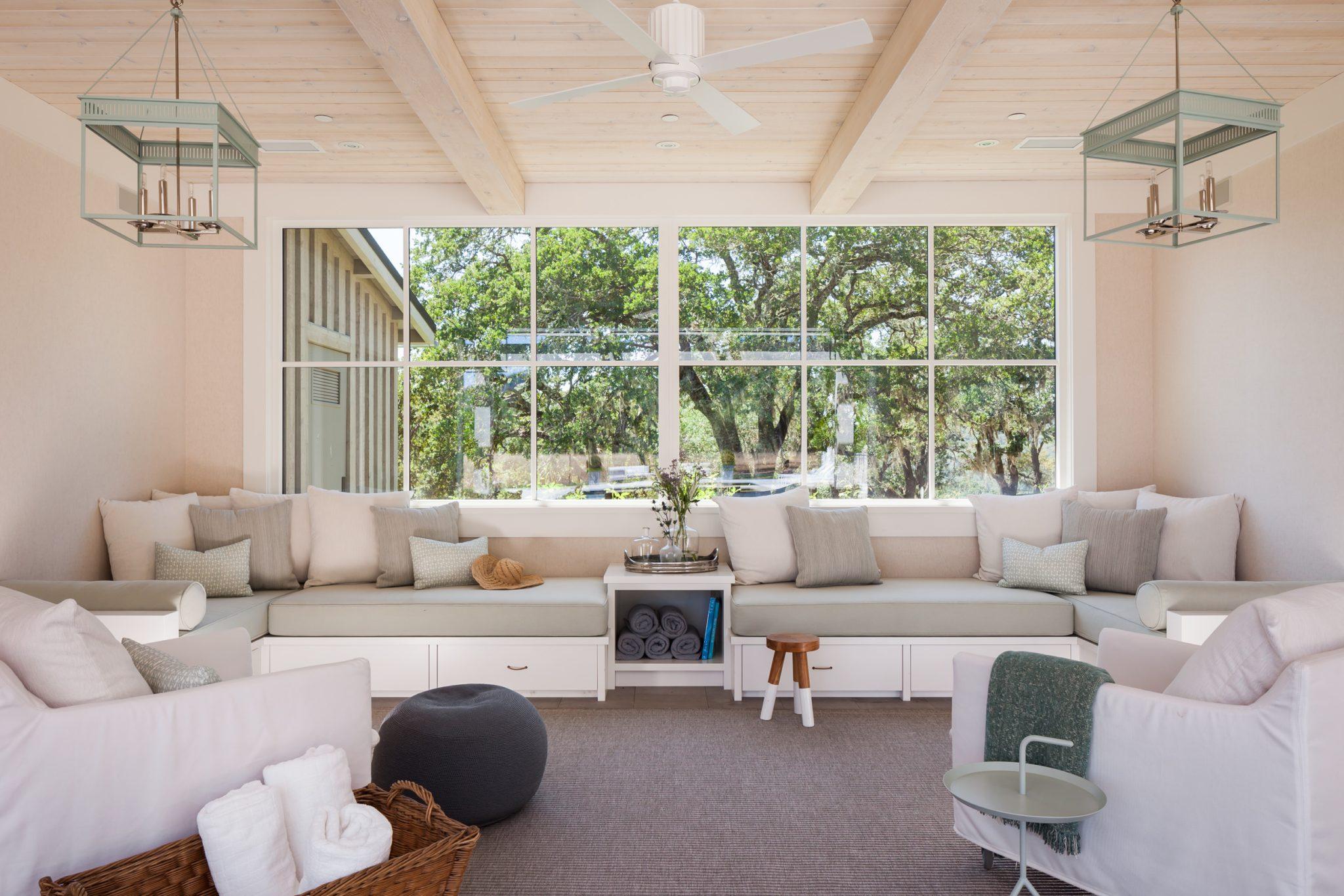 Sonoma, California- pool house sunroom by BK Interior Design