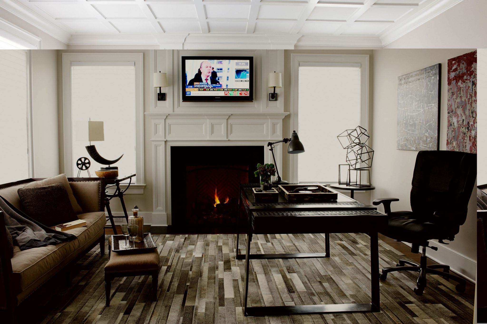 Lillian August Office: Formal Contemporary by Meredith O'Donnell