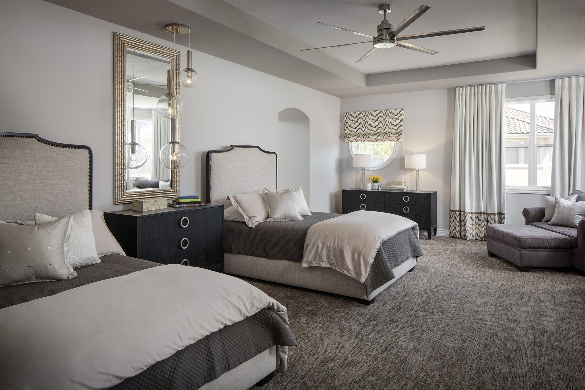 Master Bedroom Heaven w/ Brownstone Casegoods & Donghia Fabrics = Sanctuary by SUZA DESIGN