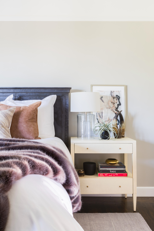 Modern Spanish revival master bedroom by Amanda Barnes Interiors