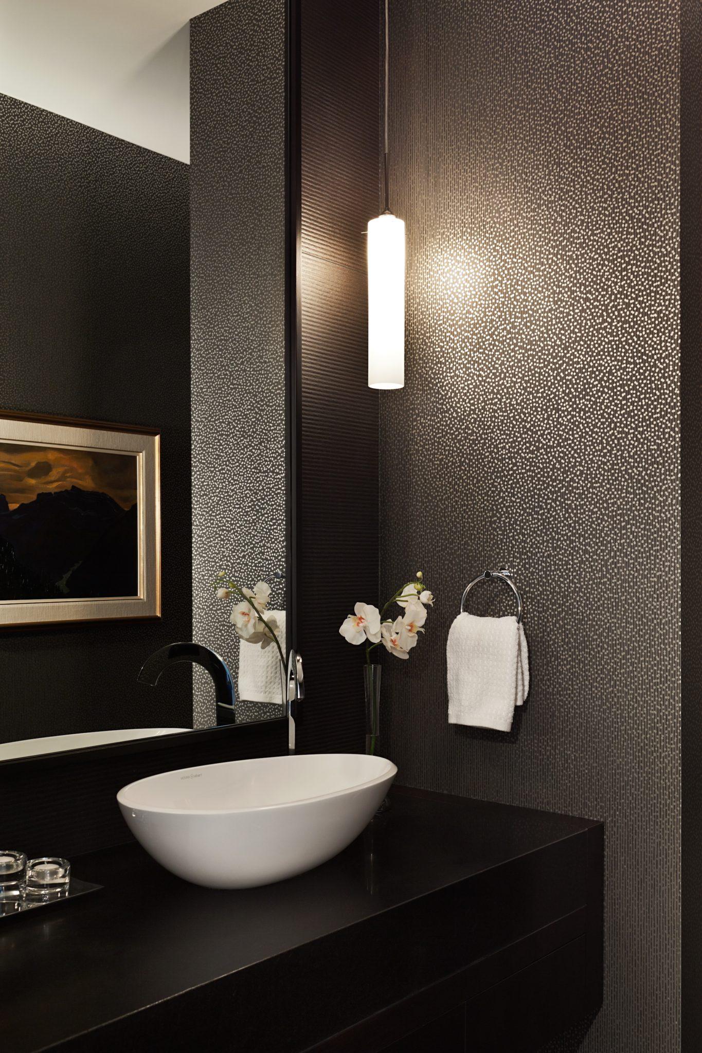 Edenbridge Humber Valley Home - powder room by Jennifer Worts Design