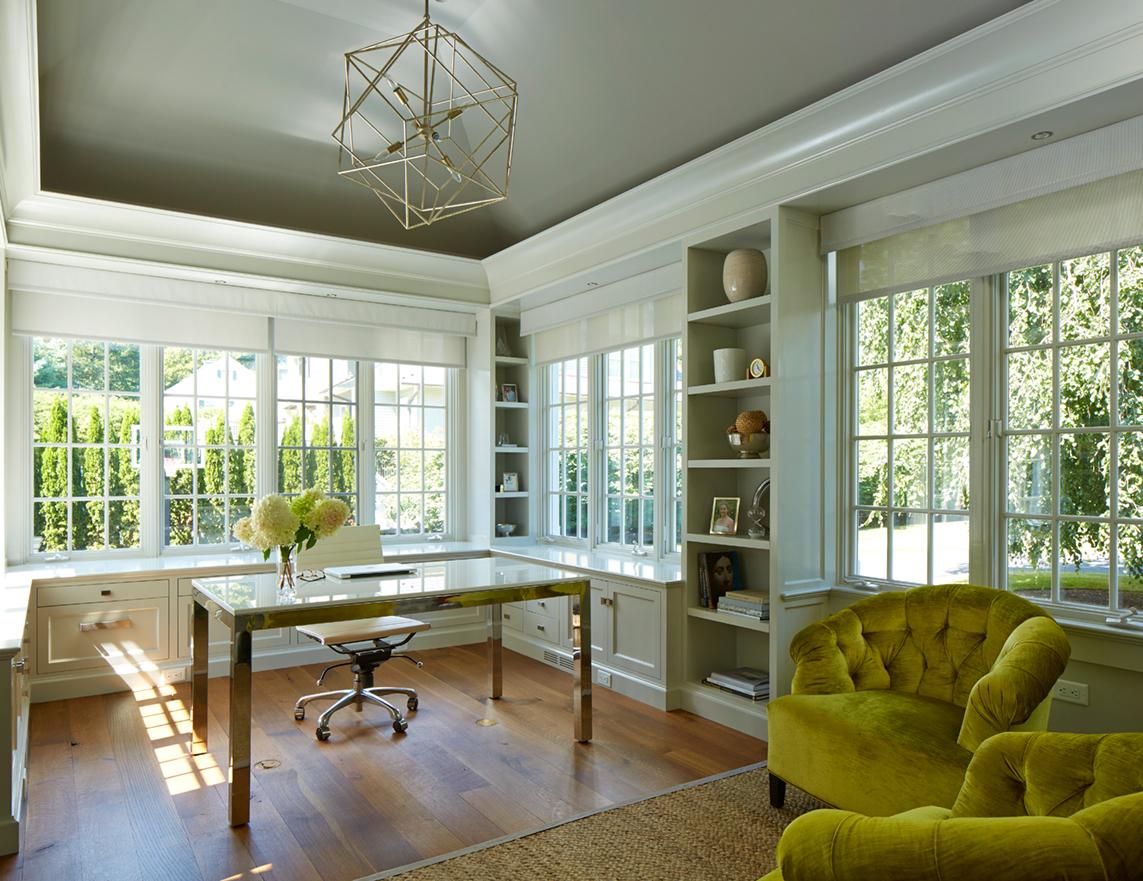 Fieldstone Renovation Home Office by Brooks & Falotico Associates, Inc.