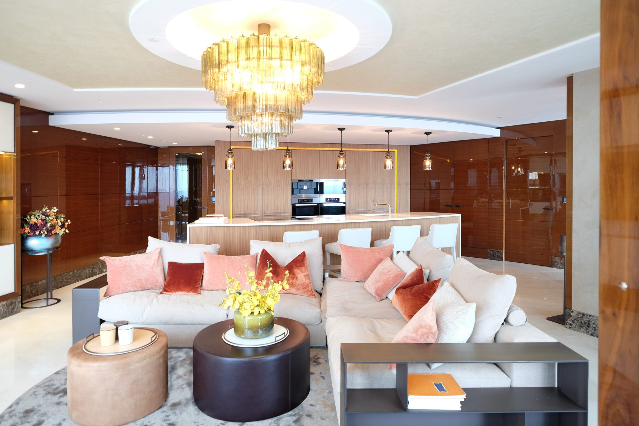 Penthouse living room and lounge by Keir Townsend Interiors Ltd