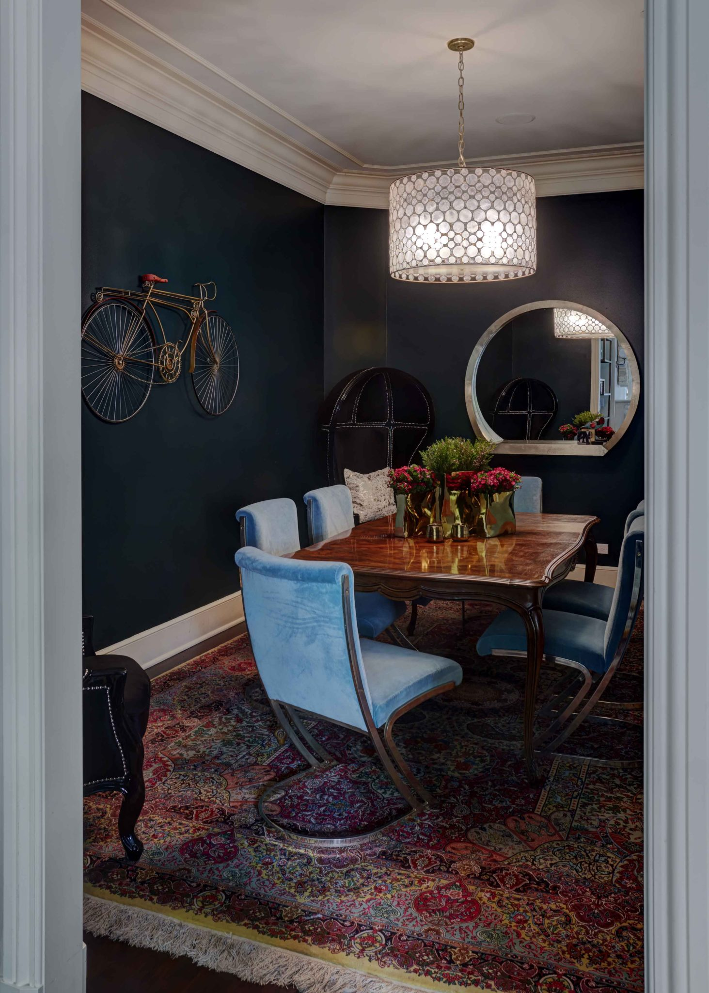 Art Collector's Lincoln Park Greystone by Inspired Interiors