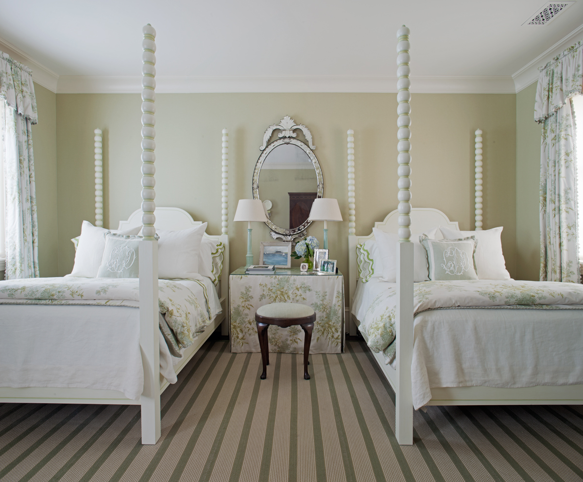 Guest Bedroom in a Savannah,Georgia Federal Home by Rena Barclay Interiors
