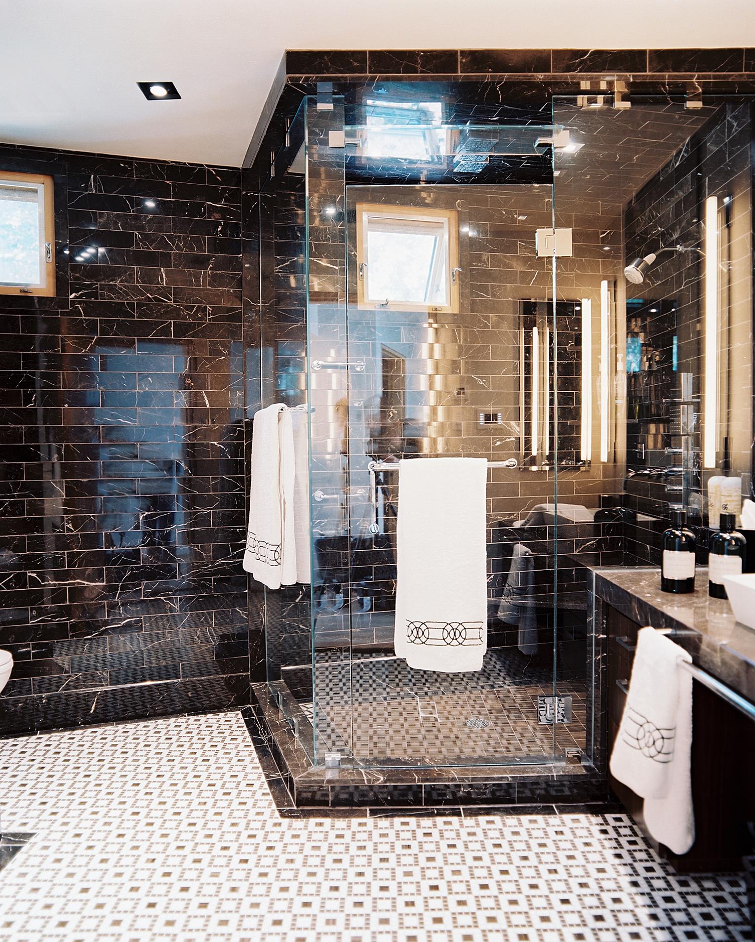 A glamorous bathroom by Jamie Herzlinger