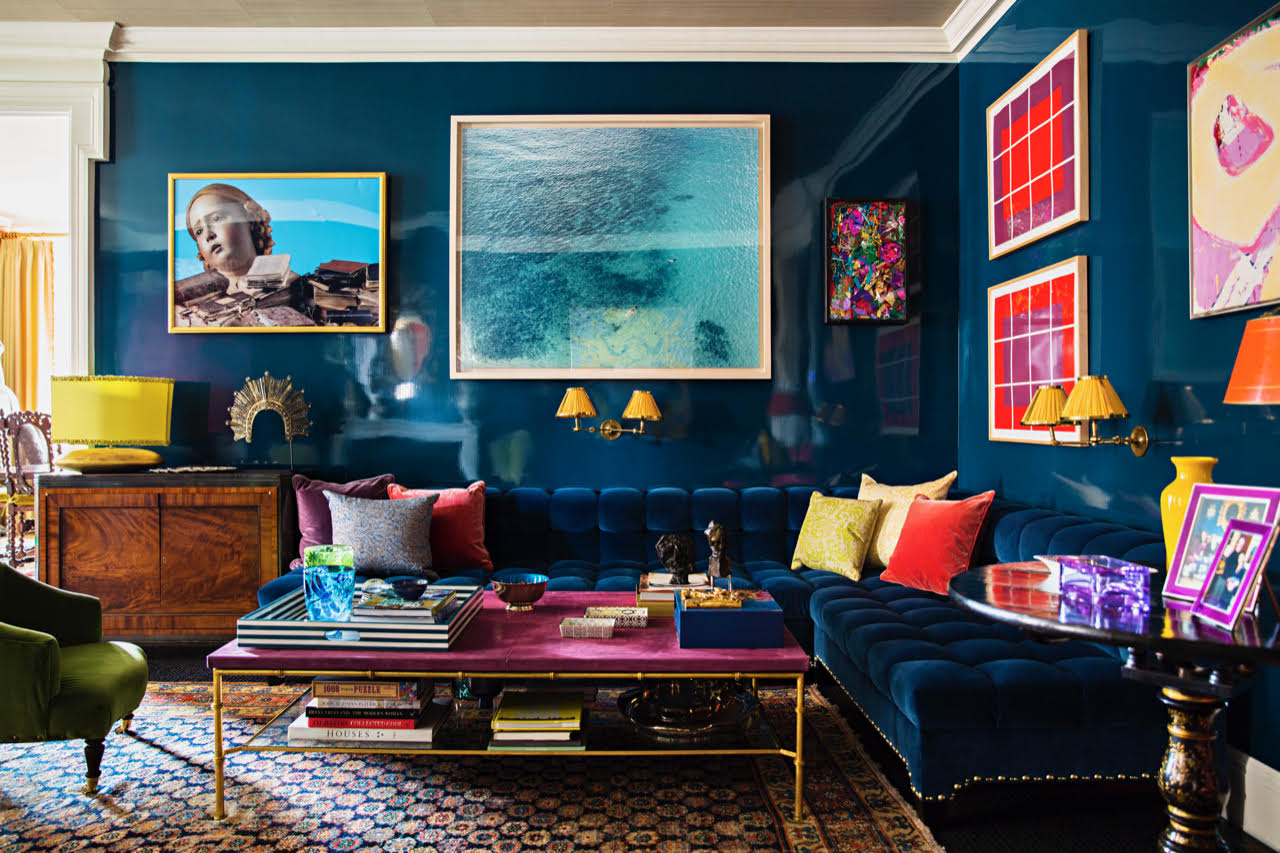 """""""This image exemplifies my aesthetic as it has real depth with personality, unique textures, and sumptuous layers. I mixed personal objects, custom items, and found treasures that the client and I purchased together. It isn't a uniform space but deeply personal. The client really shines through which is my ultimate goal!"""" —Amanda Nisbet, Amanda Nisbet Design"""