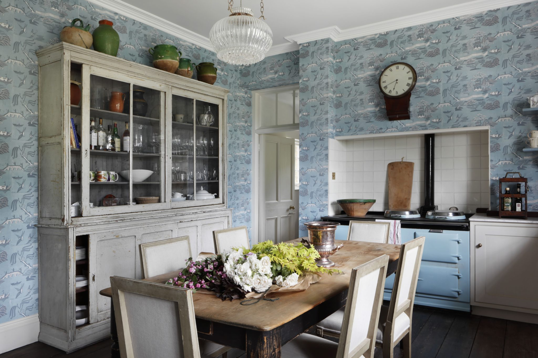 Traditional Georgian country kitchen with reclaimed floor by VSP Interiors