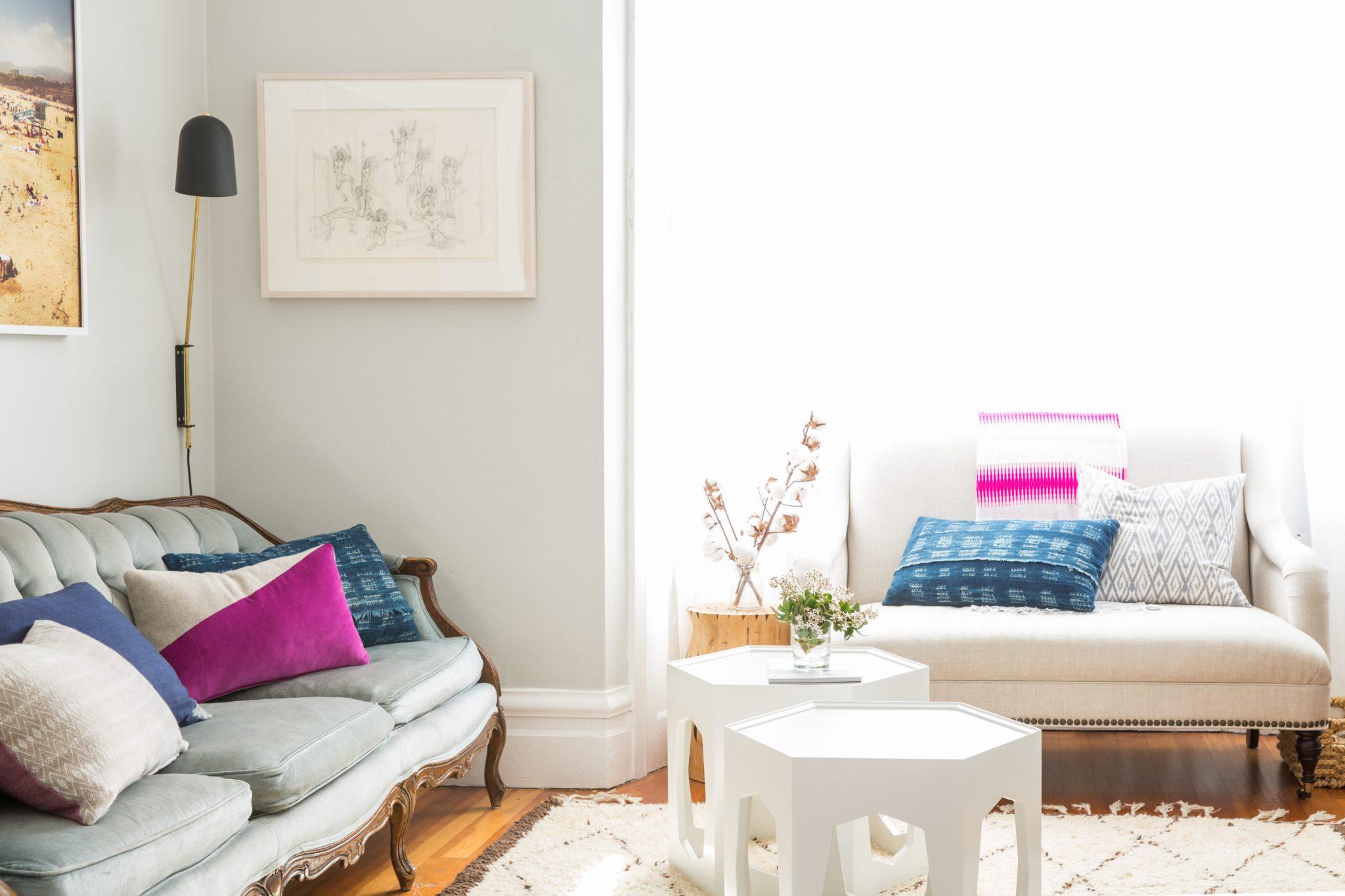 Mission Flat living room by Lauren Nelson Design