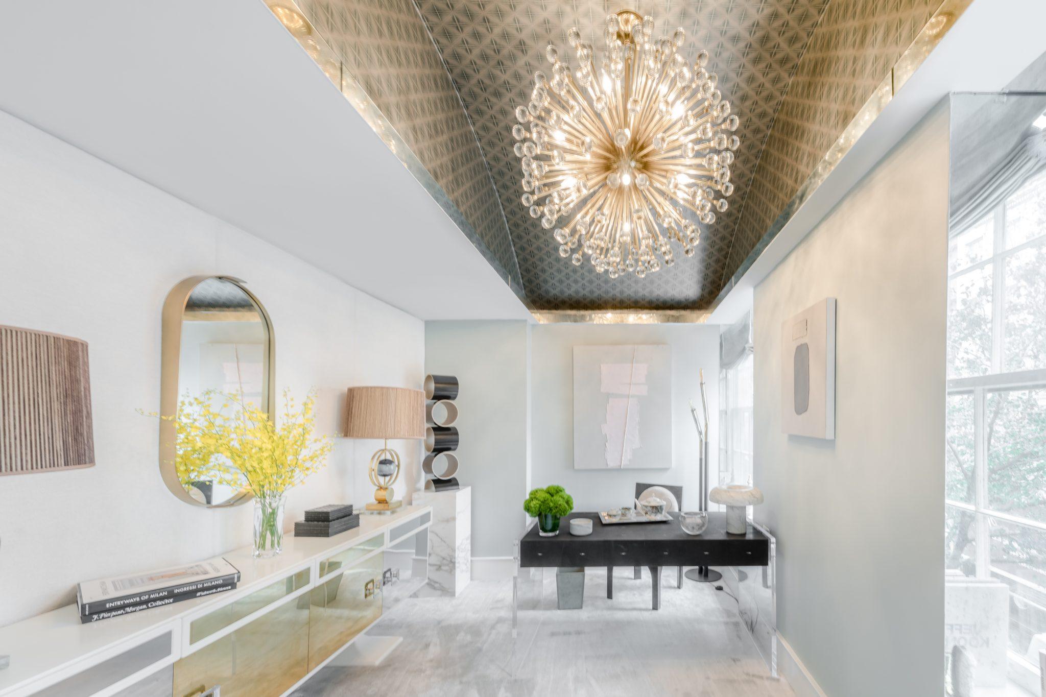 Glamorous Home Office by Natalie Kraiem Interiors
