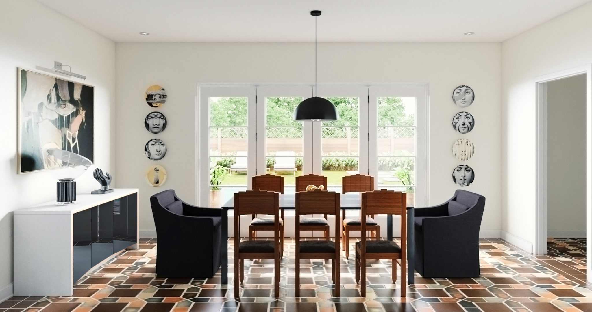 Eclectic Statement Dining Room by mr. alex TATE
