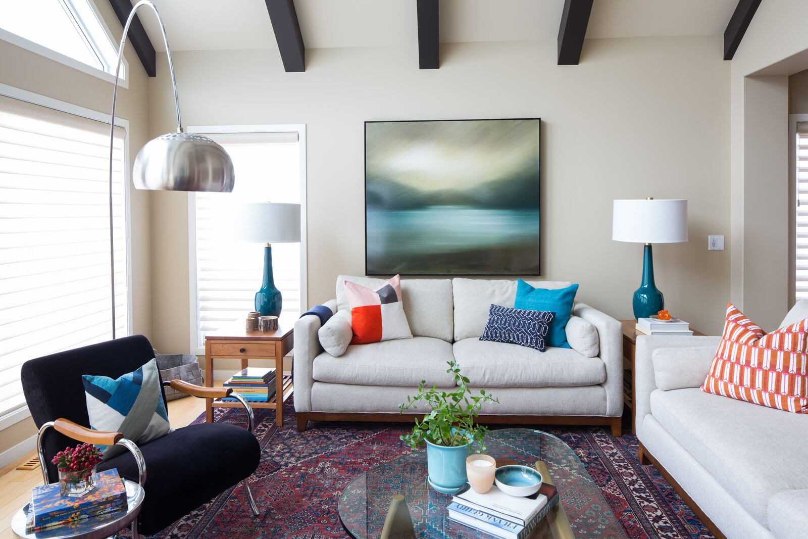 Midcentury Global Inspired Living Room by LeAnne Bunnell Interiors