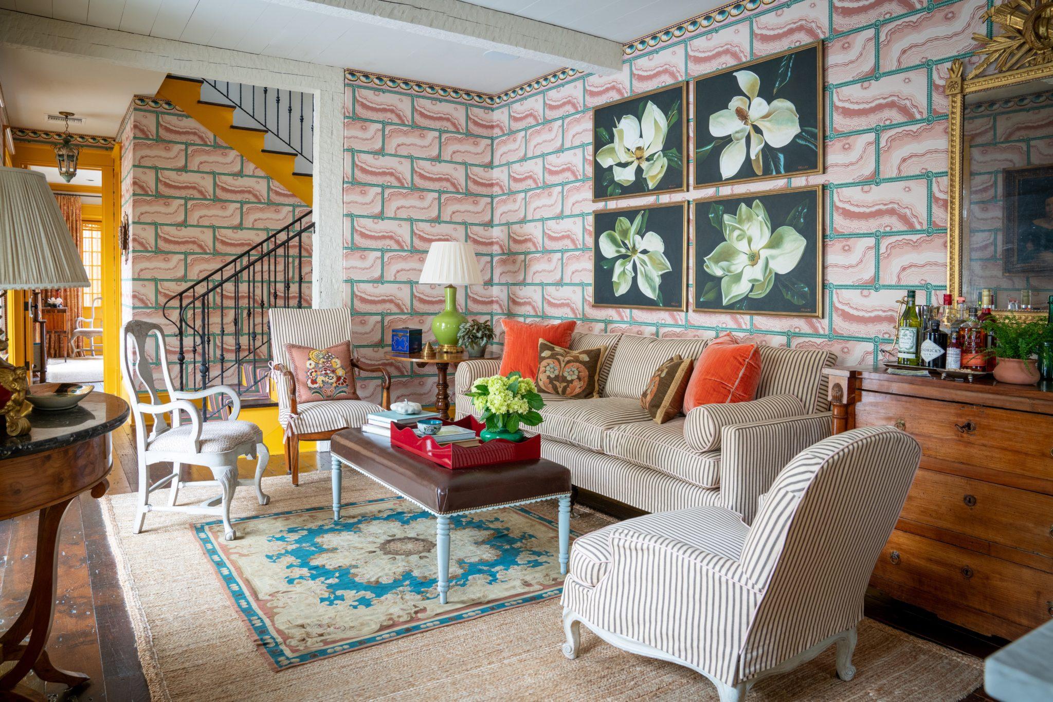 French Quarter Carriage House: Living Room by Brockschmidt & Coleman, LLC
