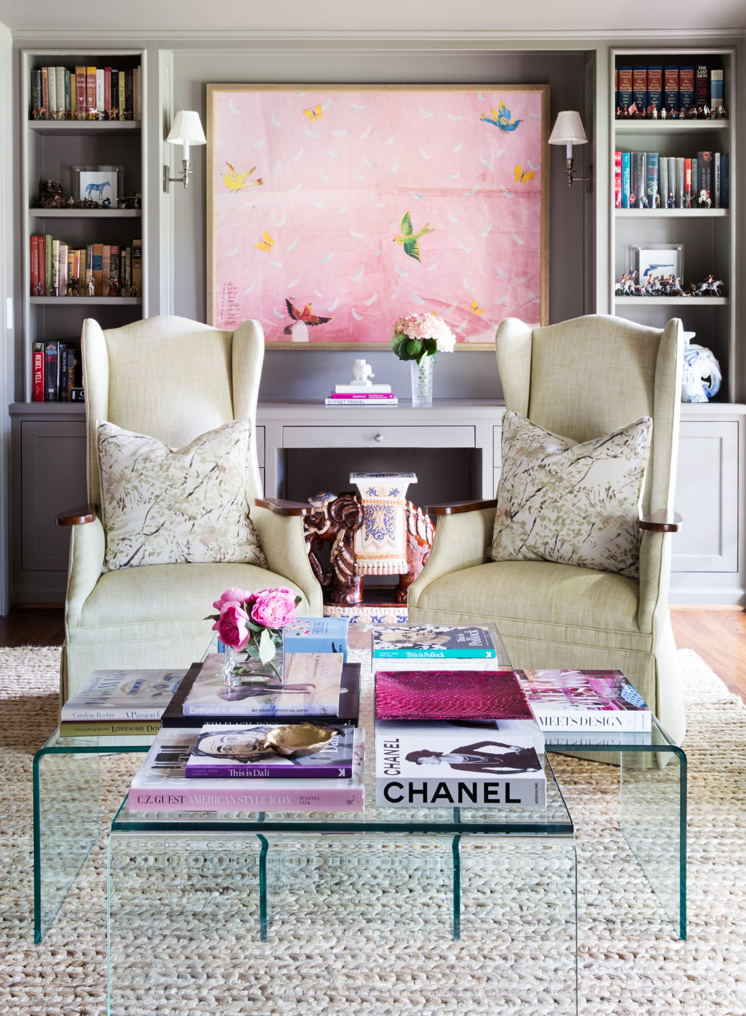 Eclectic Formal Sitting Room by Jennifer Barron Interiors