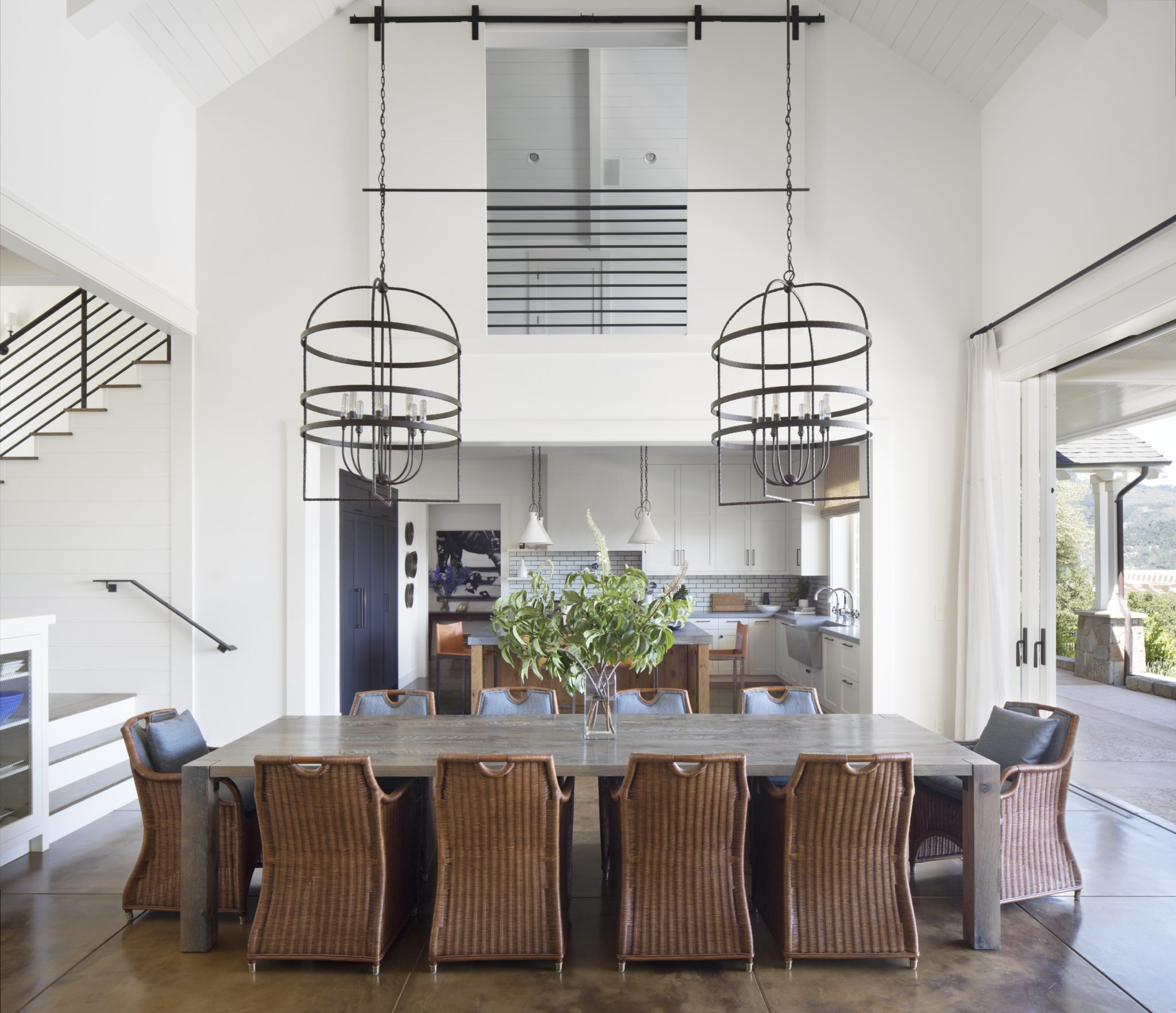 Stunning St. Helena remodel open dining room by Wade Design Architects