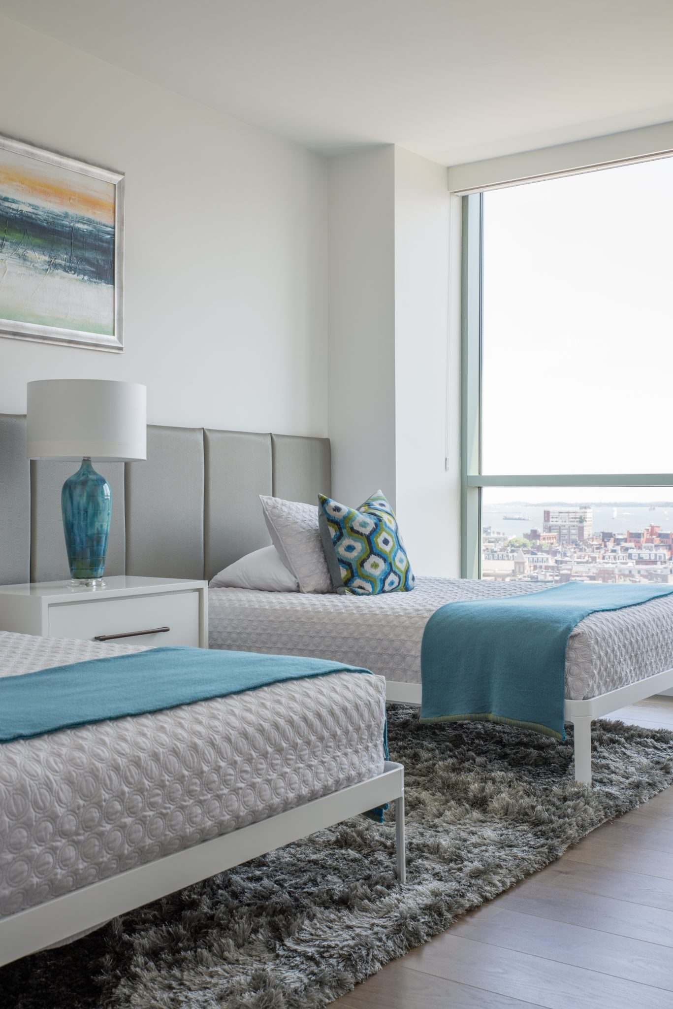 Guest bedroom with a view by JN Interior Spaces