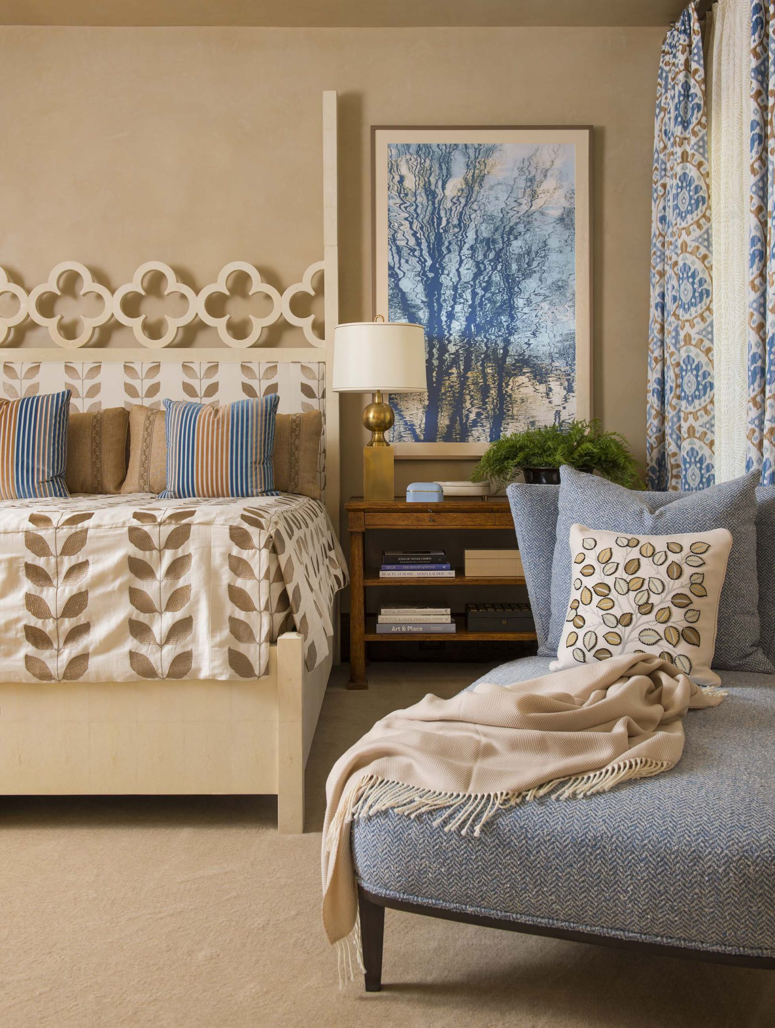 A wonderful use of different patterns and modern art by Corley Design