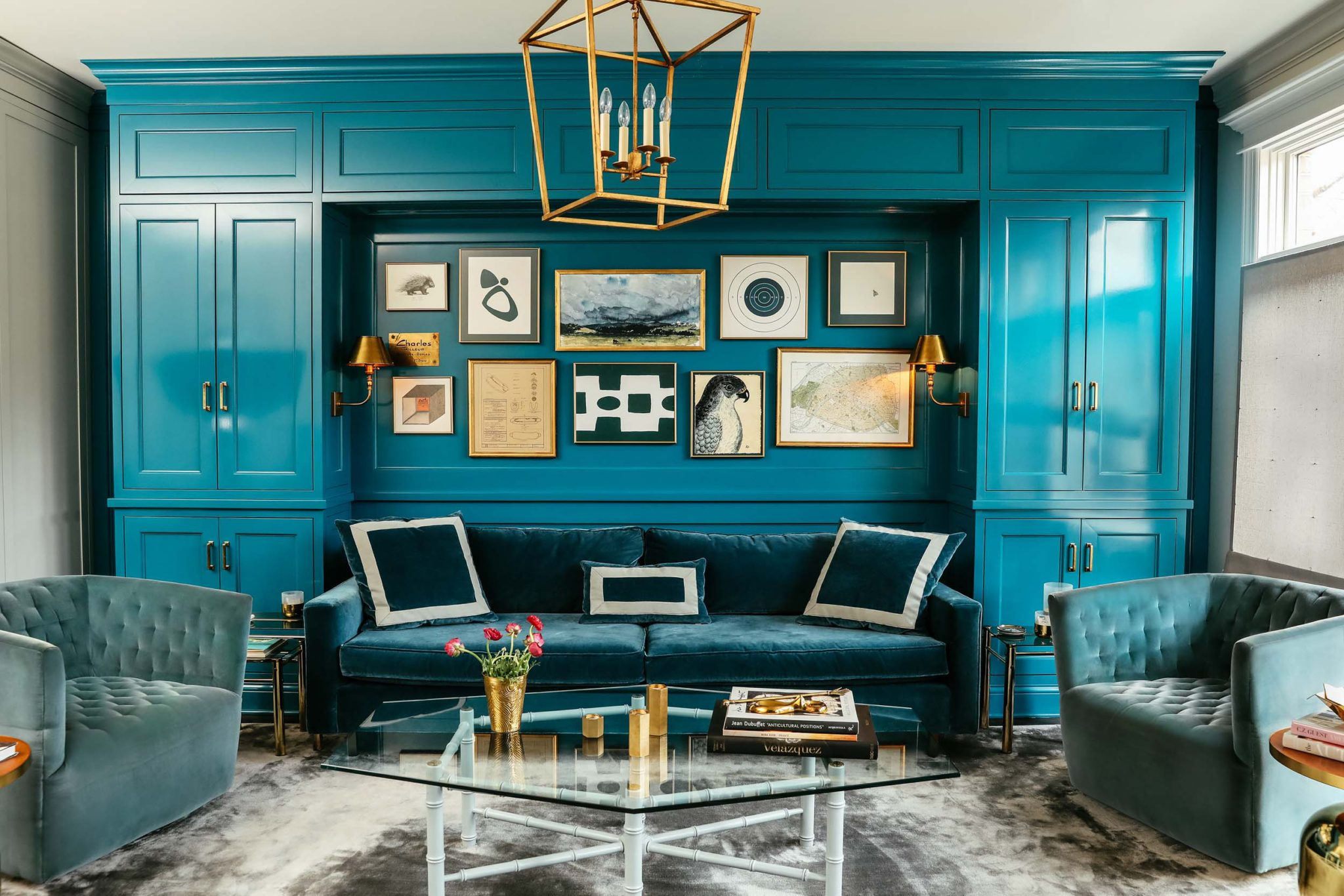 A Colorful Renovation, Family Room by Leo Designs Chicago